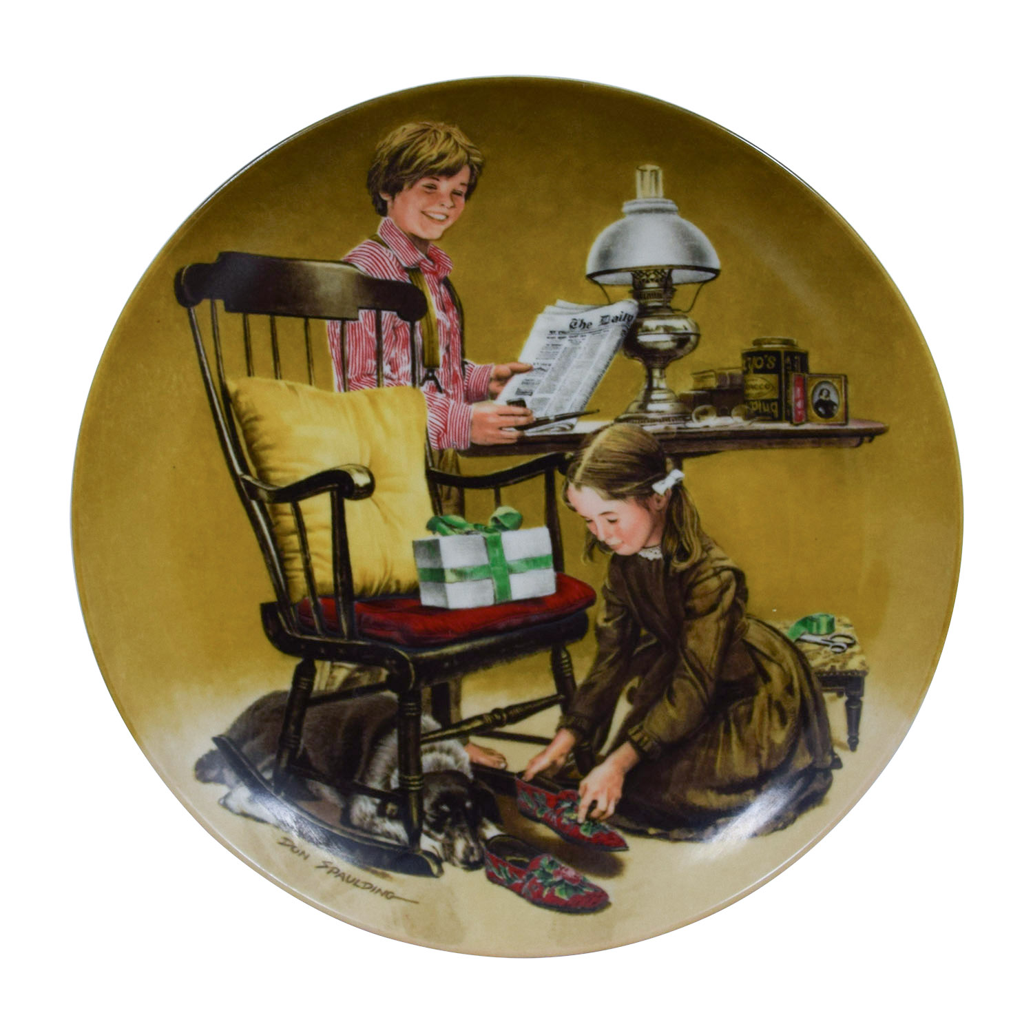 shop Edward M. Knowles Norman Rockwell Fathers Day Plate Edward M. Knowles Wall Art