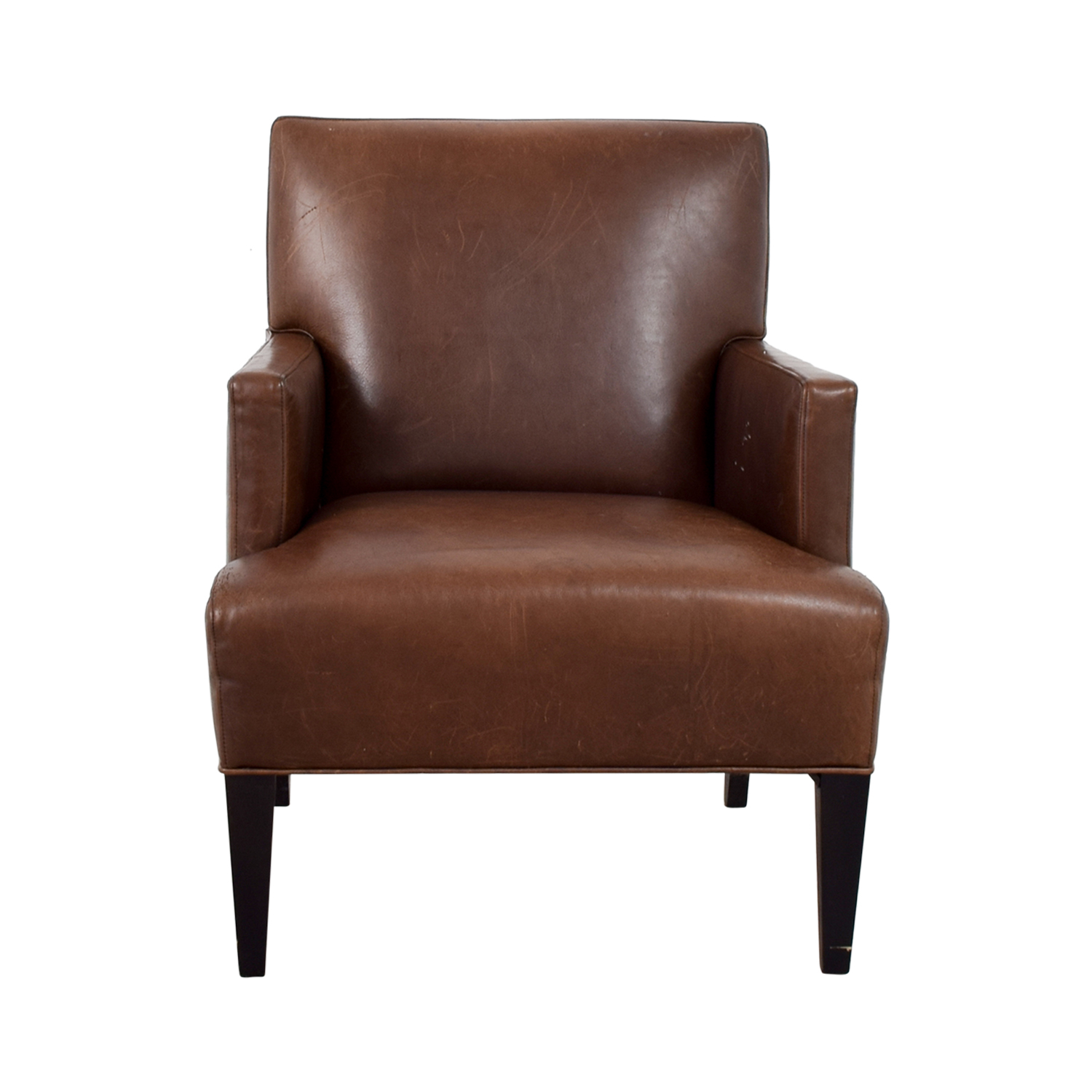 Crate & Barrel Crate & Barrel Brown Leather Arm Chair second hand