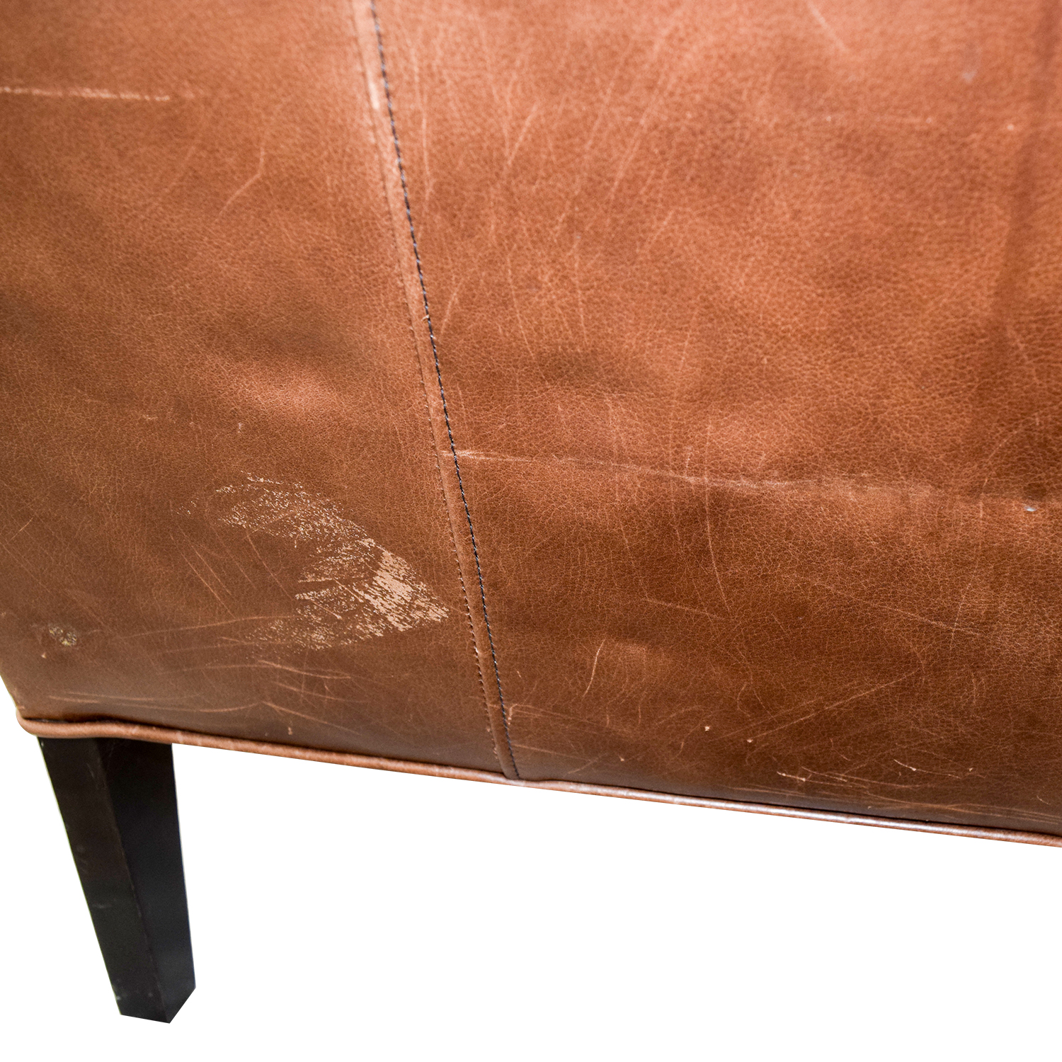 Crate & Barrel Crate & Barrel Brown Leather Arm Chair Brown