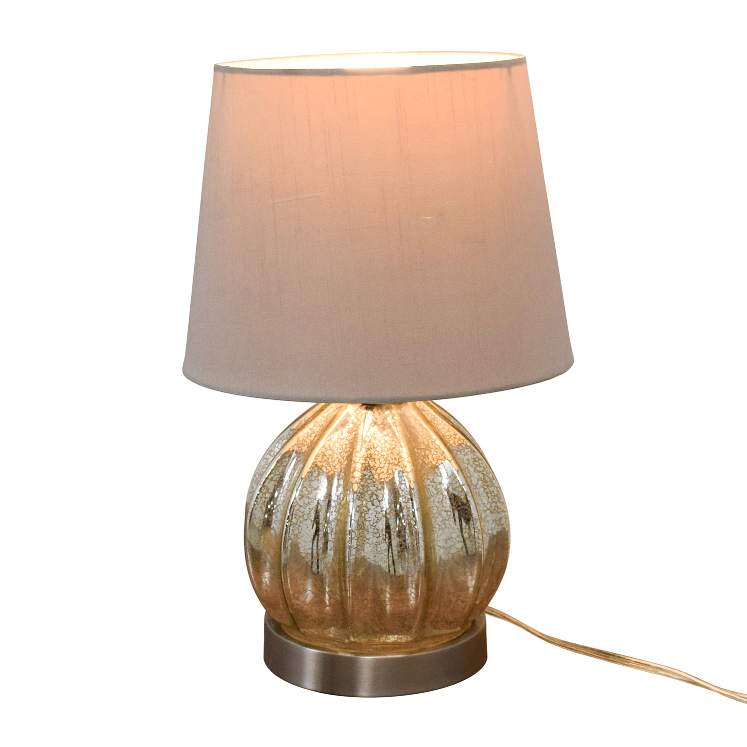 Round Mercury Glass Table Lamp dimensions
