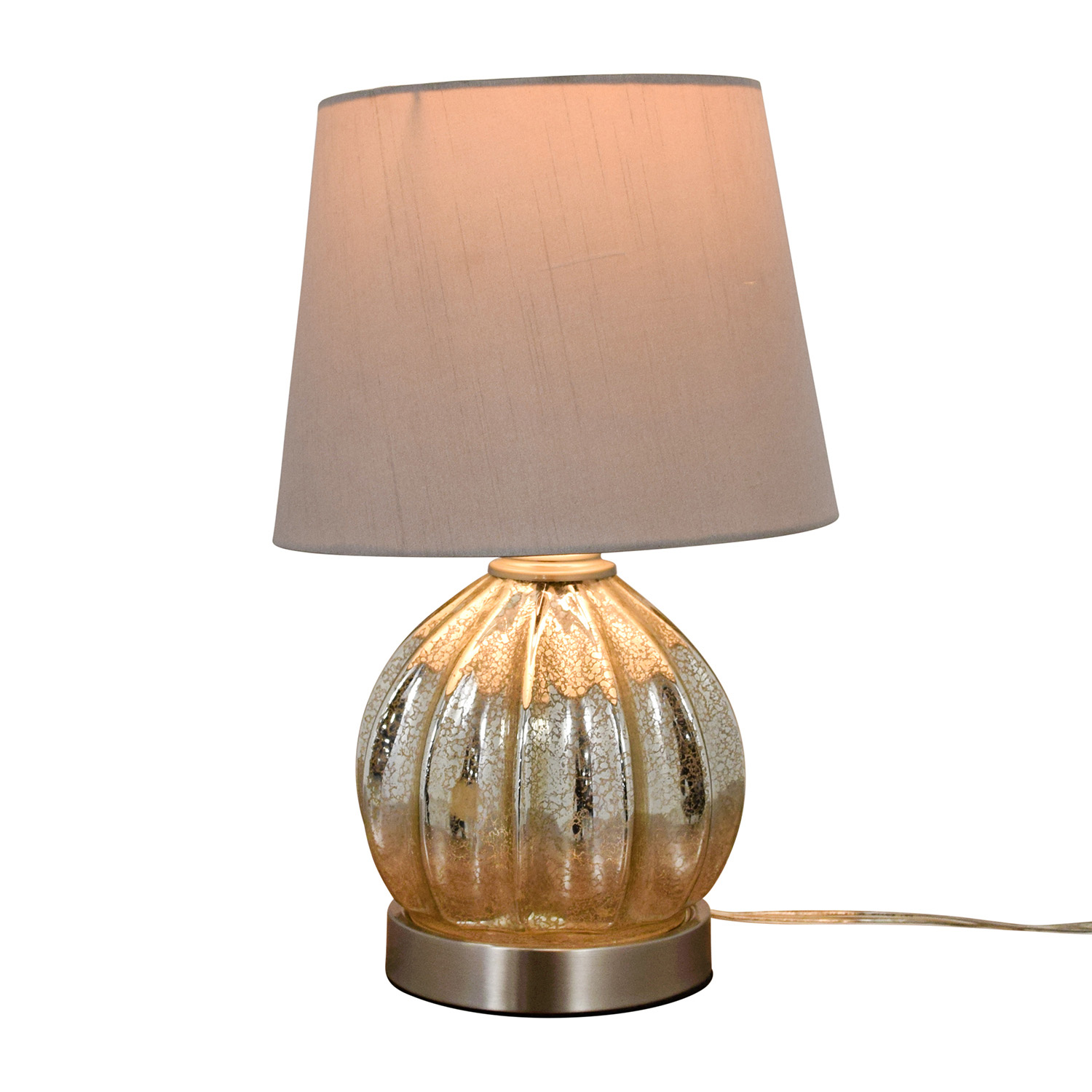 Round Mercury Glass Table Lamp Lamps