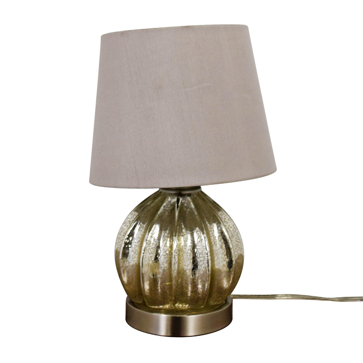 buy Round Mercury Glass Table Lamp Decor