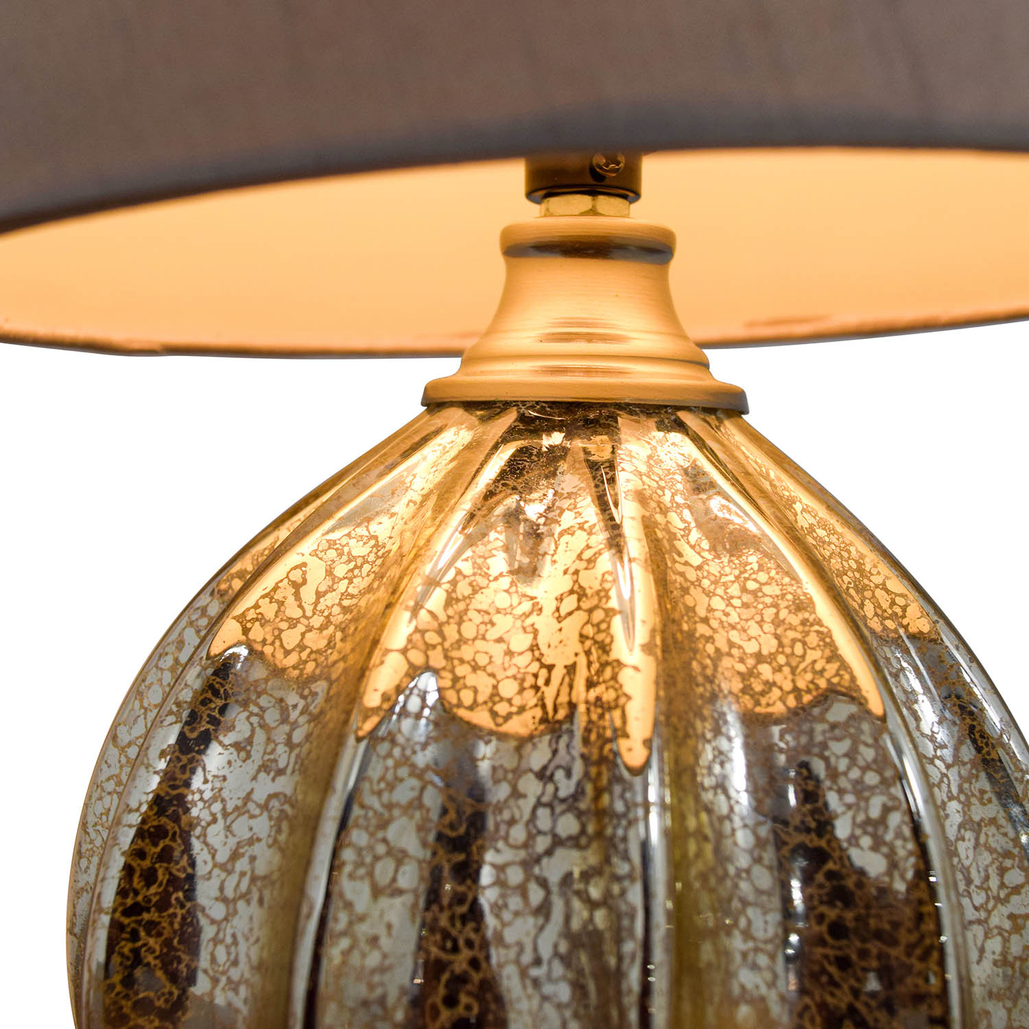 Round Mercury Glass Table Lamp sale