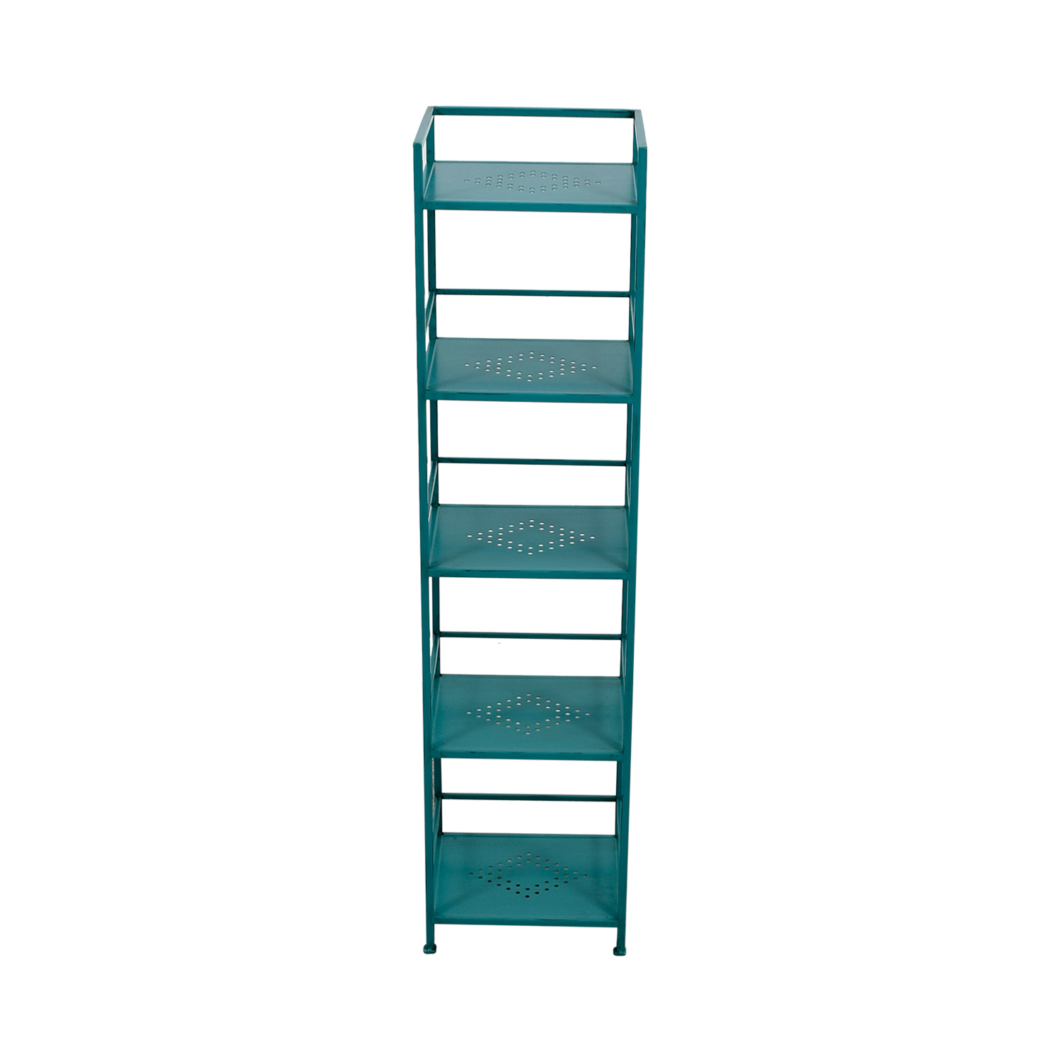 Pier 1 Imports Weldon Turquoise Metal High Shelf / Bookcases & Shelving