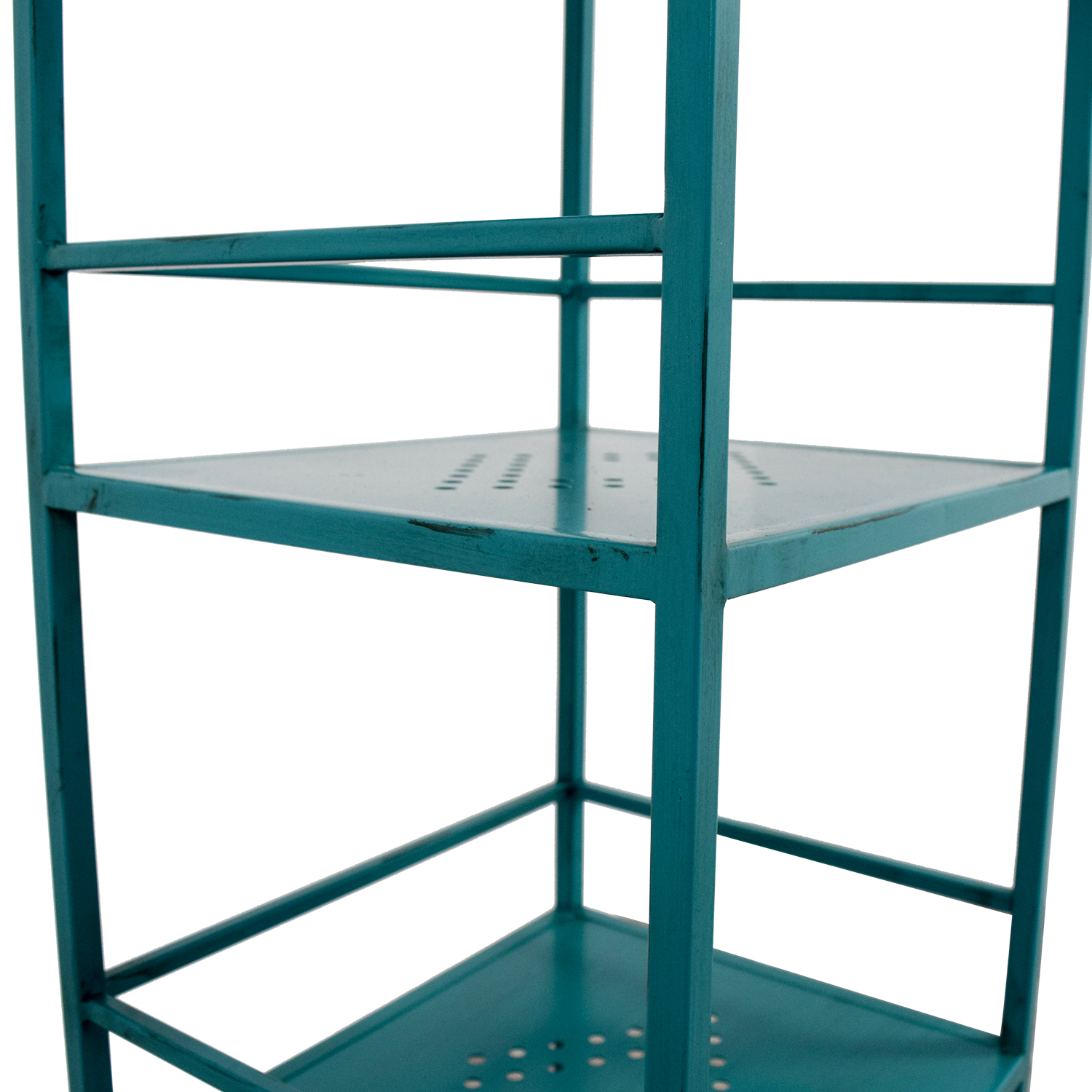 Pier 1 Imports Pier 1 Imports Weldon Turquoise Metal High Shelf discount