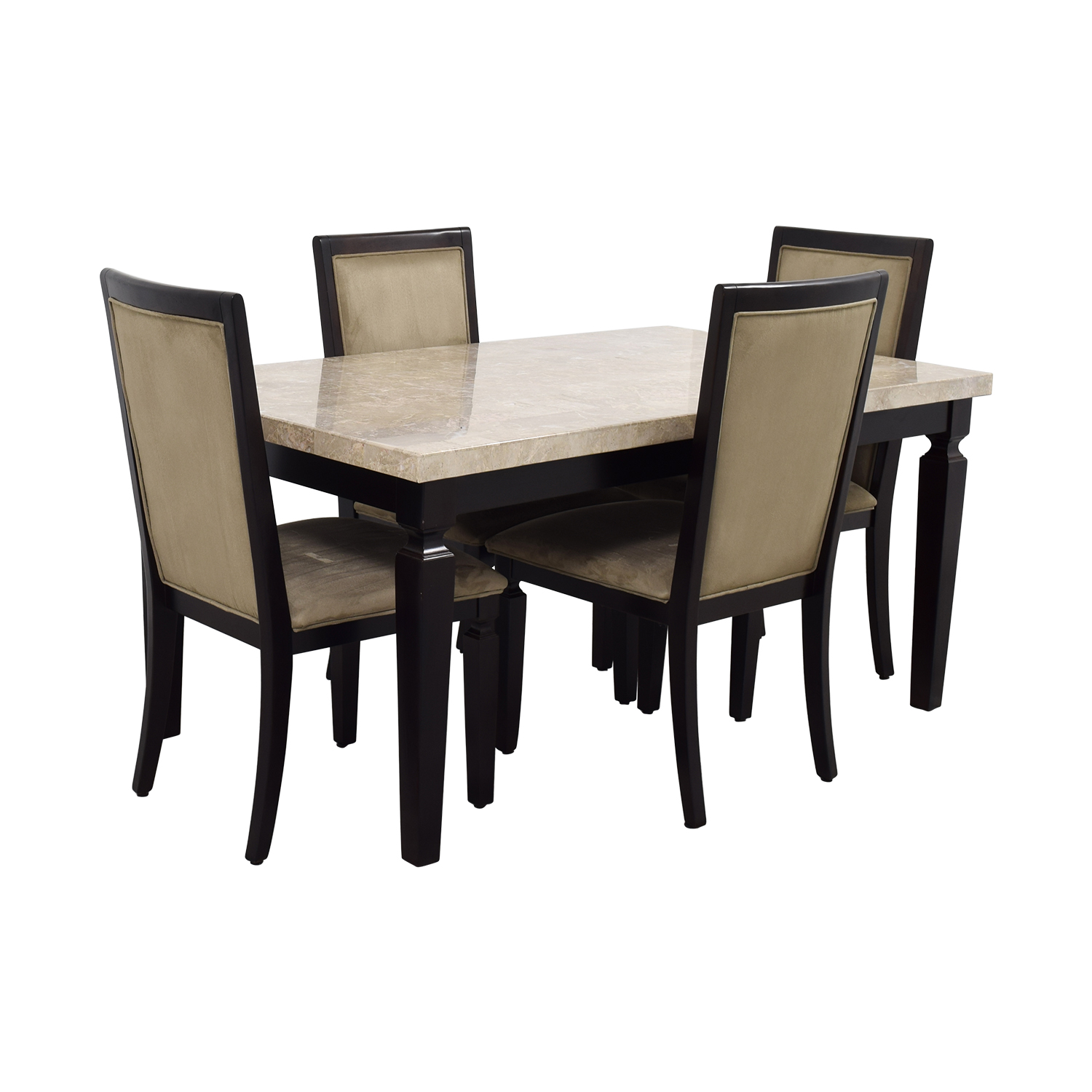Raymour & Flanigan Raymour & Flanigan Rogue Marble Dining Set for sale