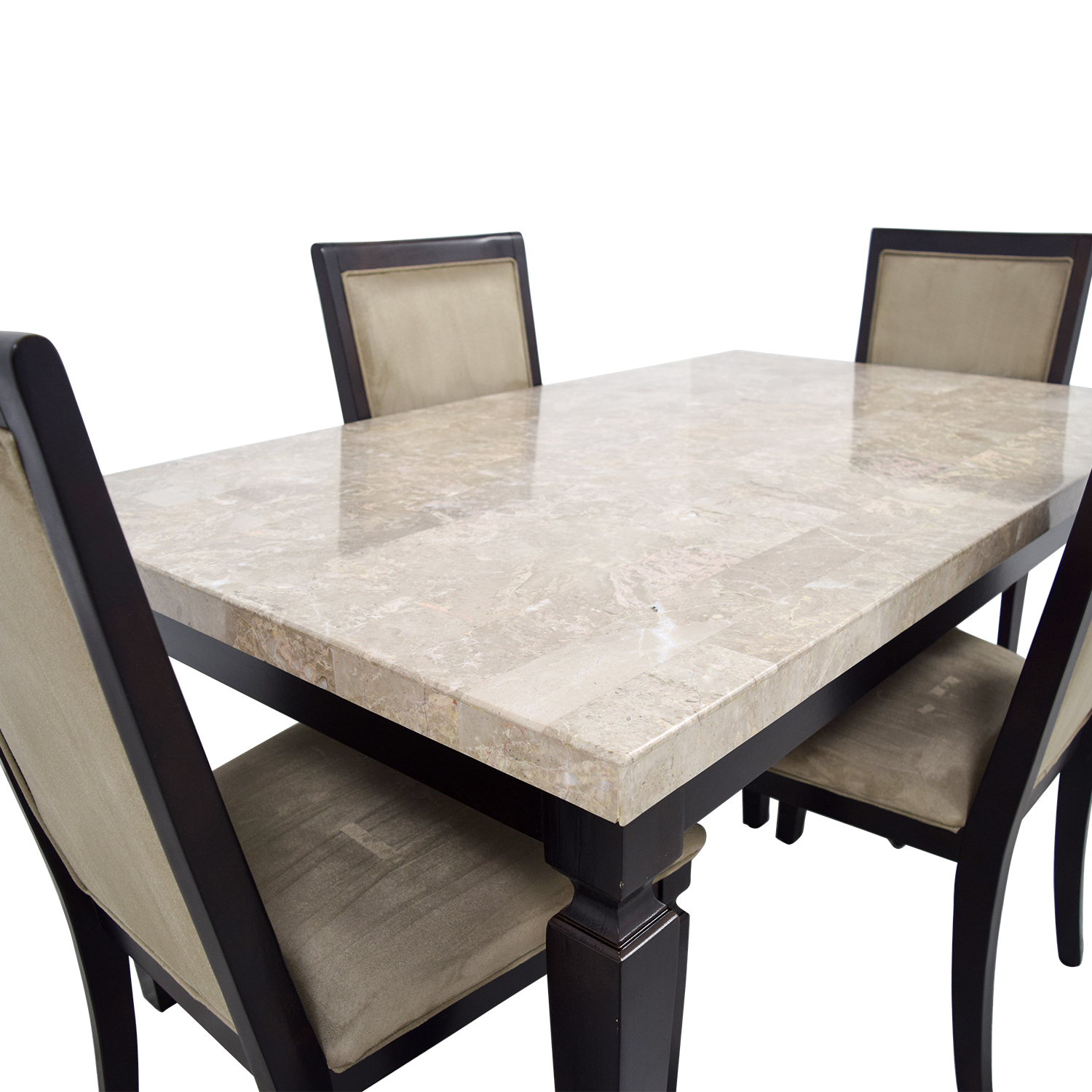 Raymour & Flanigan Raymour & Flanigan Rogue Marble Dining Set Dining Sets