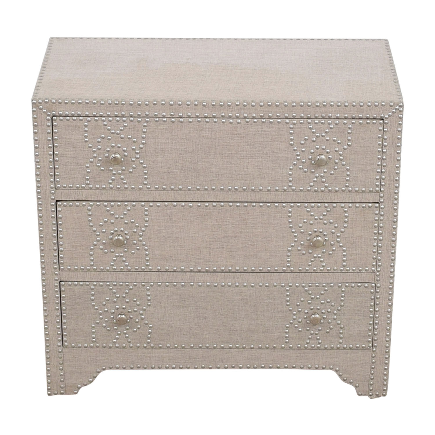 Pier 1 Import Grey Fabric Lexford Chest with Nailheads Pier 1 Imports