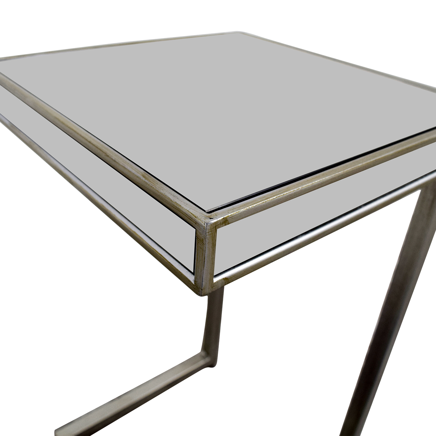 shop Pier 1 Imports Hayworth Silver C-Table in Mirror Pier 1 Imports Utility Tables