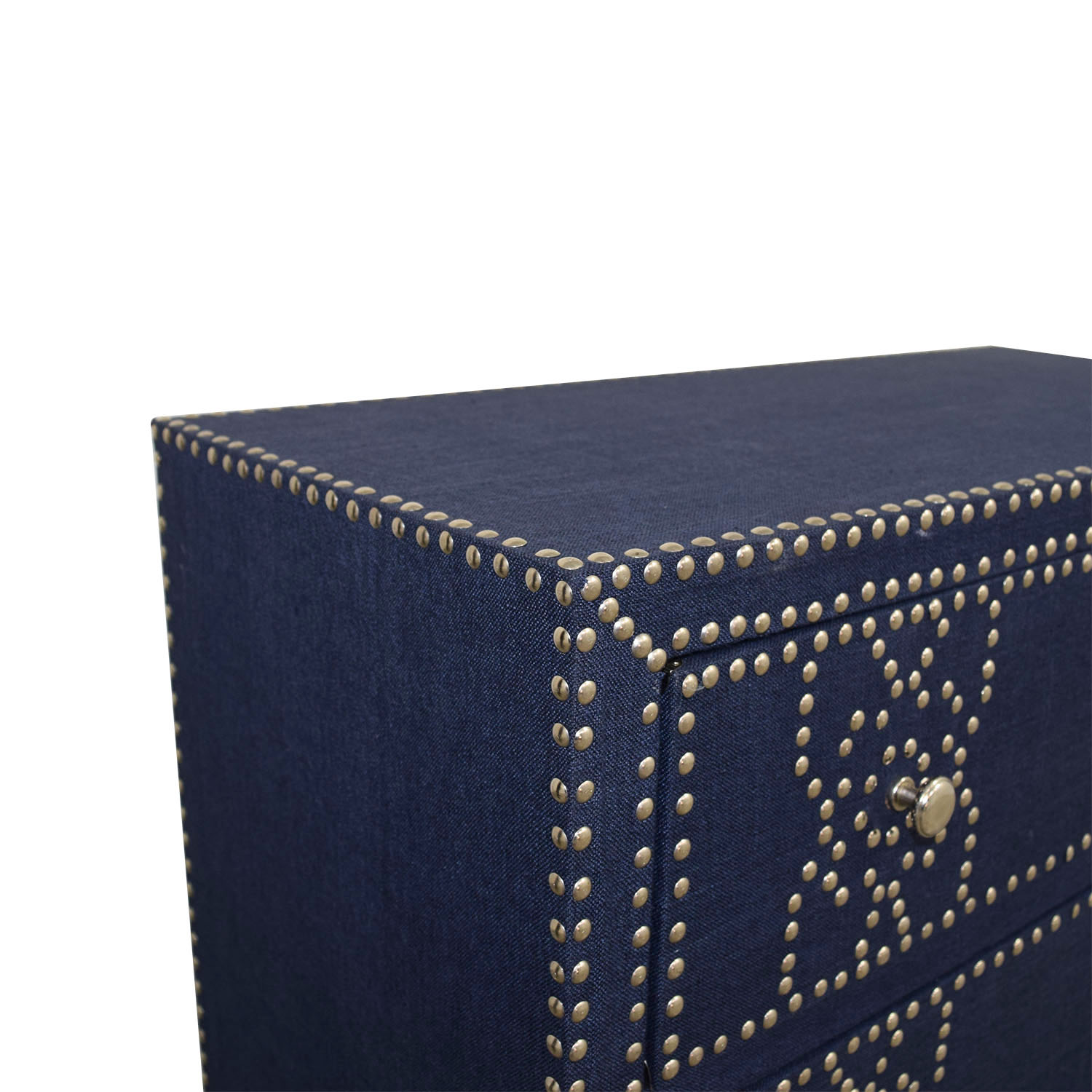 Pier 1 Imports Denim Fabric Lexford Chest with Nailheads / Dressers