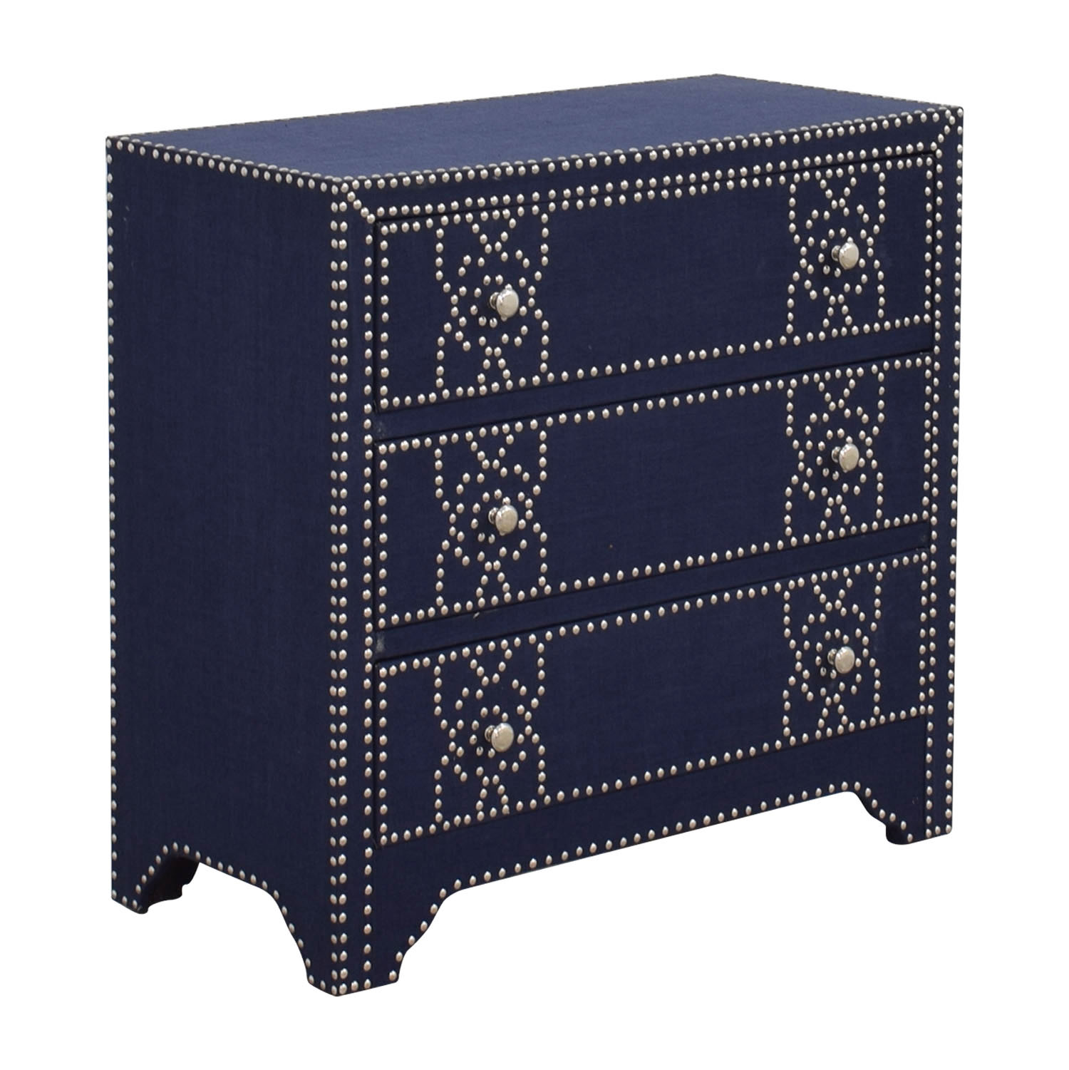 Pier 1 Imports Pier 1 Imports Denim Fabric Lexford Chest with Nailheads dimensions
