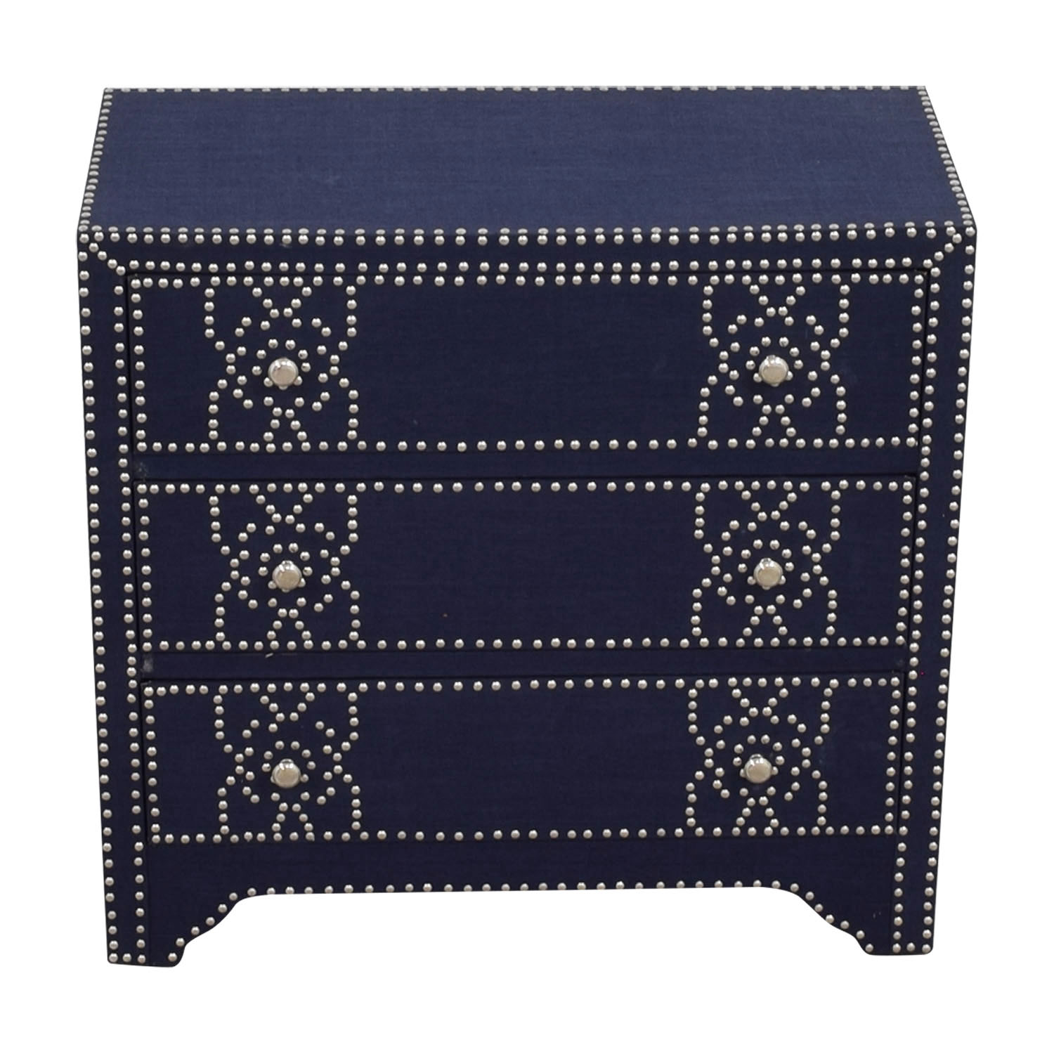 Pier 1 Imports Pier 1 Imports Denim Fabric Lexford Chest with Nailheads discount