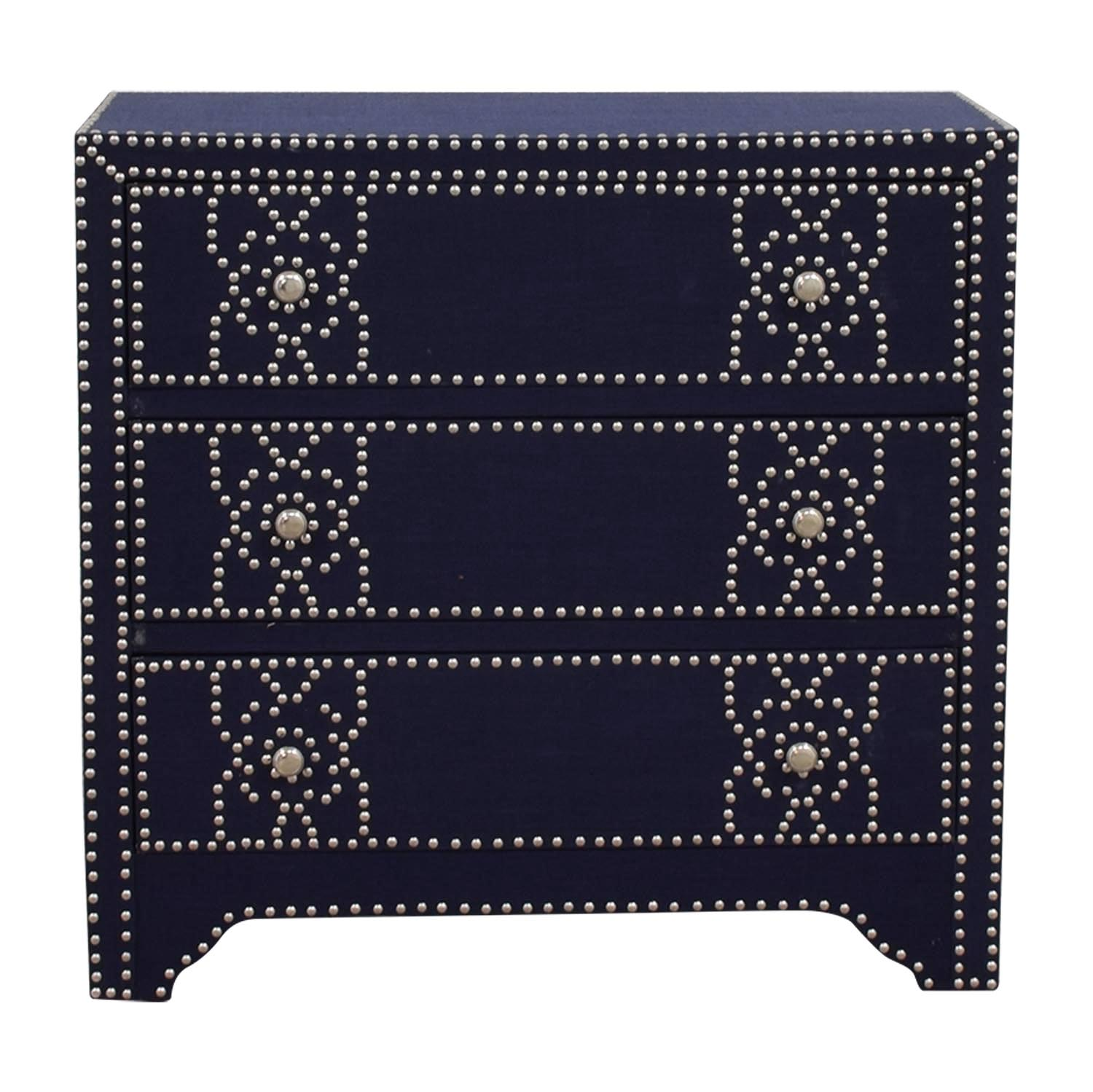 buy Pier 1 Imports Denim Fabric Lexford Chest with Nailheads Pier 1 Imports