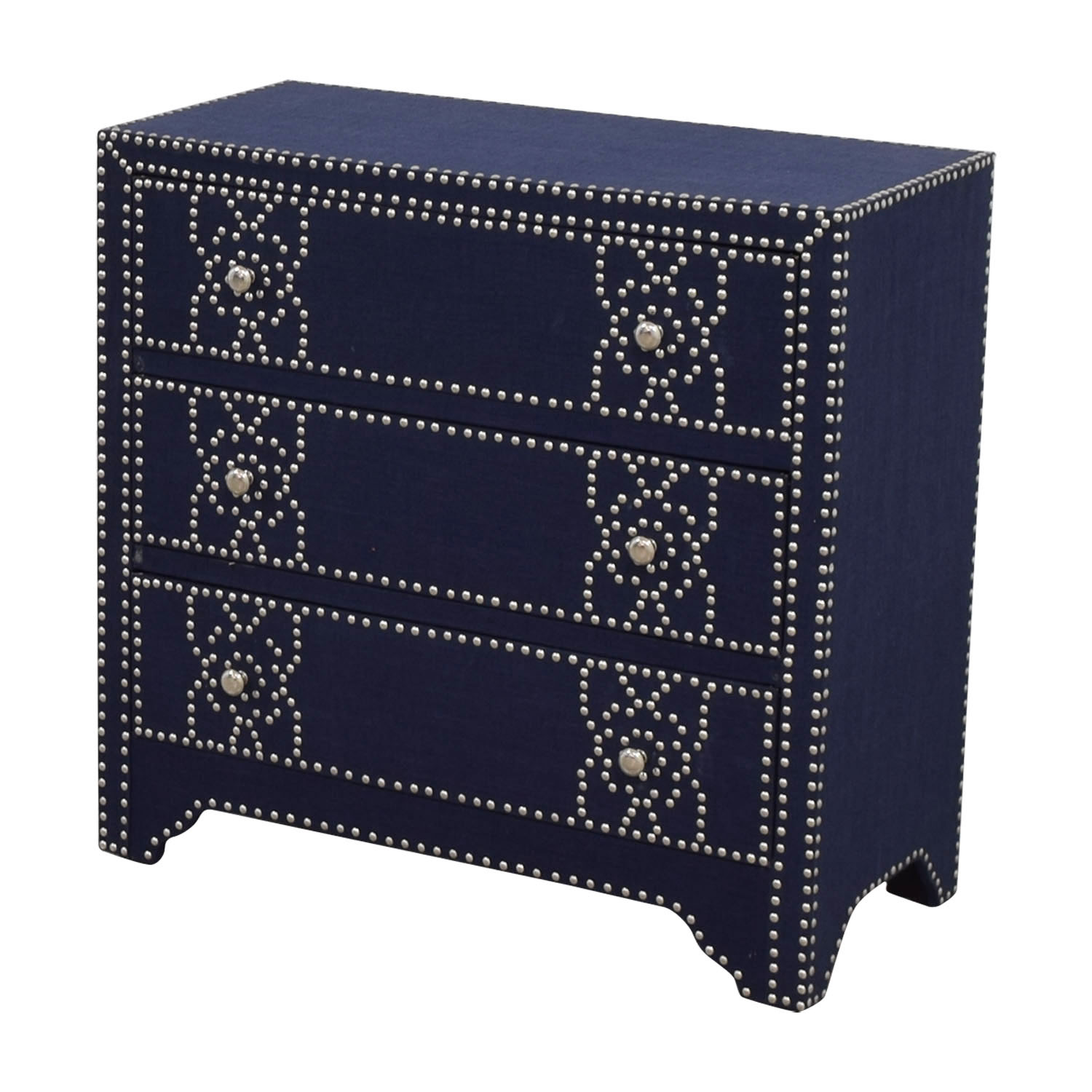 shop Pier 1 Imports Denim Fabric Lexford Chest with Nailheads Pier 1 Imports Storage