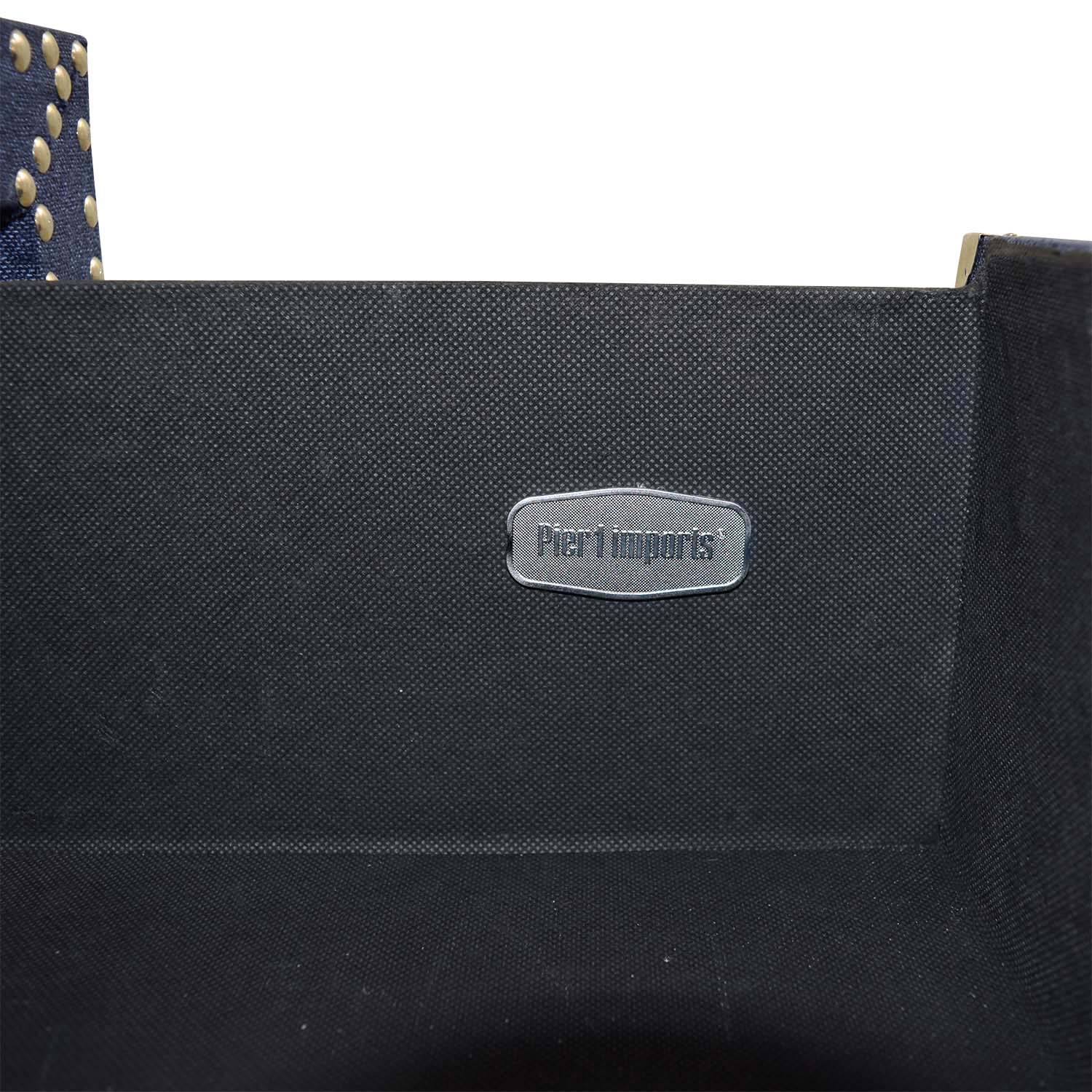 Pier 1 Imports Pier 1 Imports Denim Fabric Lexford Chest with Nailheads