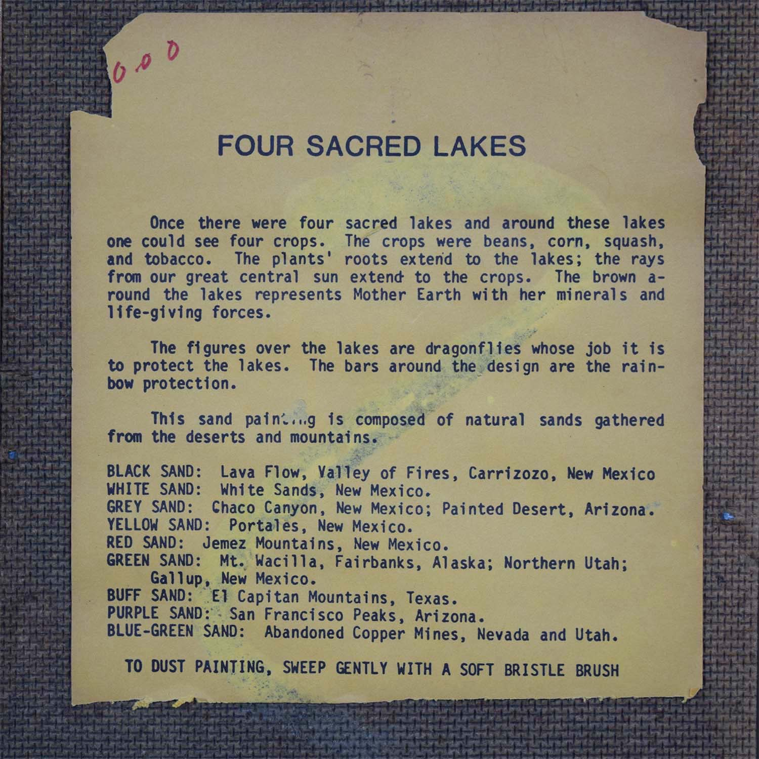 buy Four Sacred Lakes Framed Lithograph
