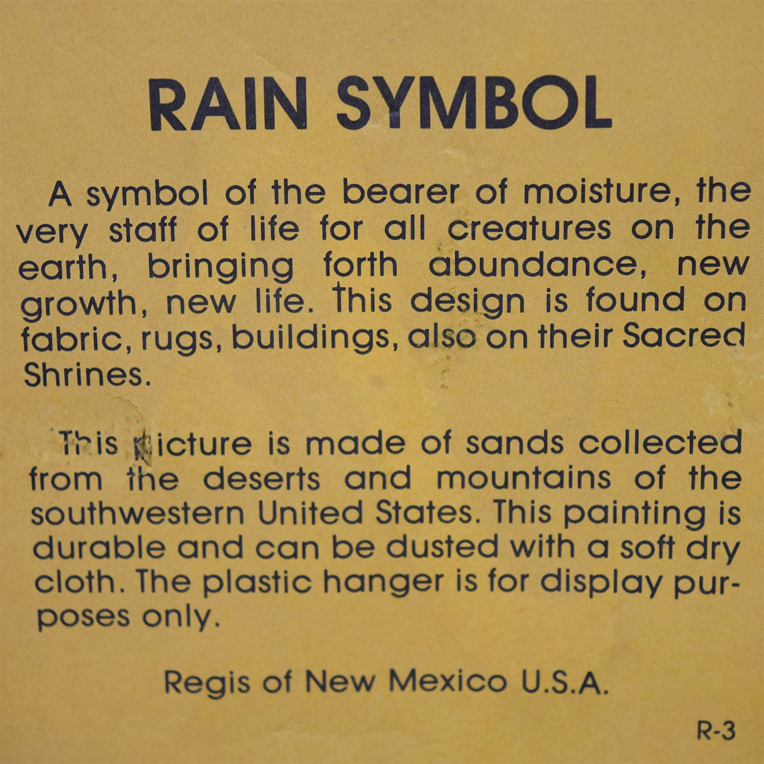 31% OFF - Regis of New Mexico Regis of New Mexico Rain Symbol / Decor