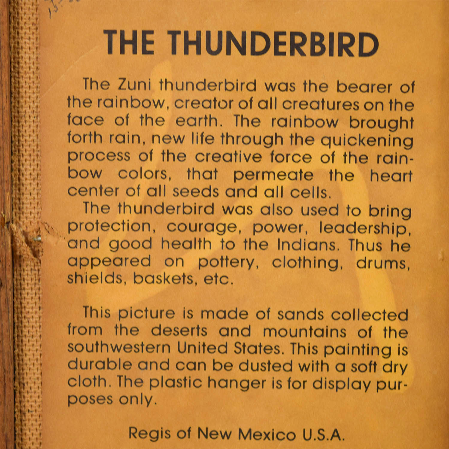 Regis of New Mexico Regis of New Mexico The Thunderbird for sale