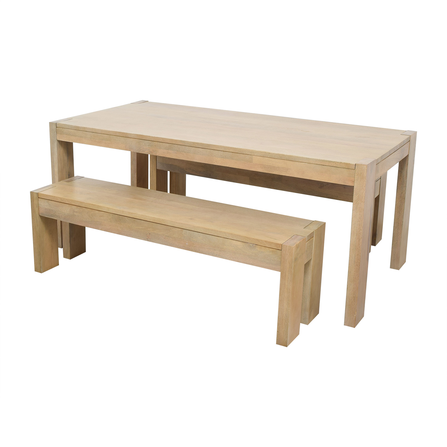 West Elm West Elm Boerum Dining Table and Benches dimensions