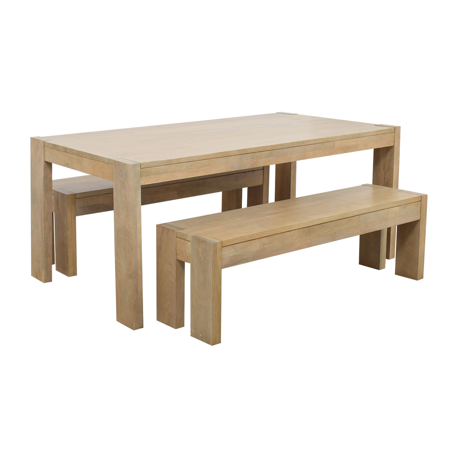 ... West Elm Boerum Dining Table And Benches / Dining Sets ...