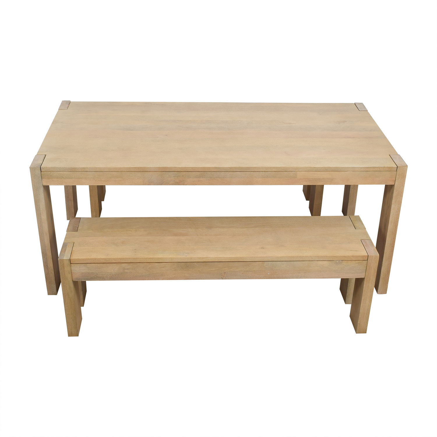 West Elm Boerum Dining Table And Benches