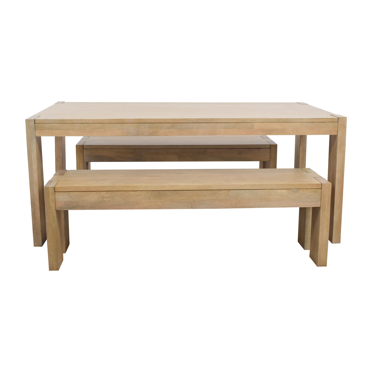 West Elm Boerum Dining Table and Benches West Elm