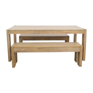 West Elm Boerum Dining Table and Benches sale