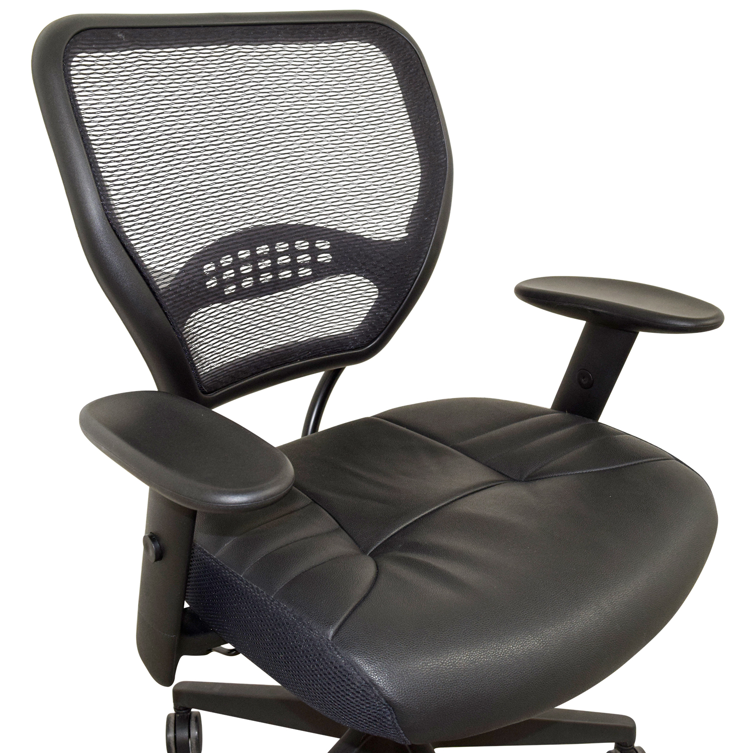 Office Star Office Star Black Eco Leather Seat and Air Grid Back Chair nyc