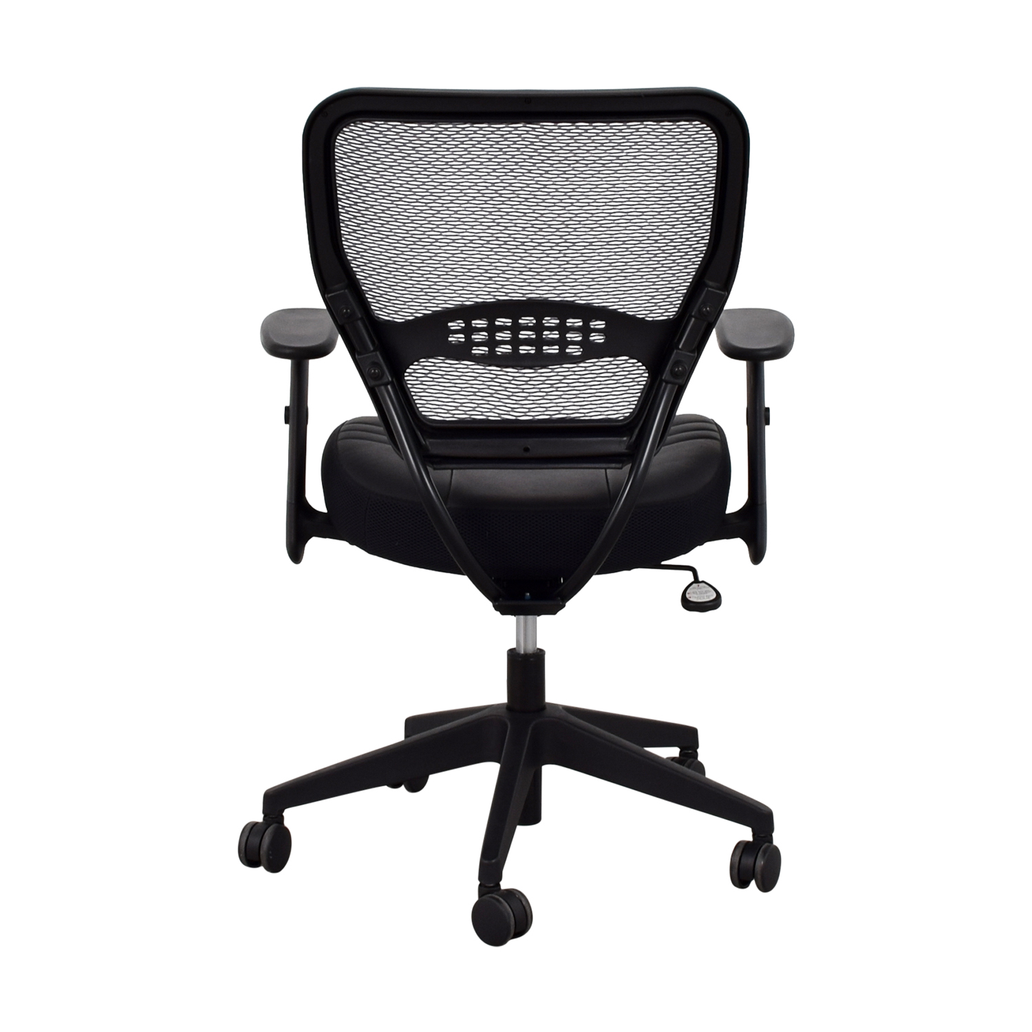 Office Star Black Eco Leather Seat and Air Grid Back Chair Office Star