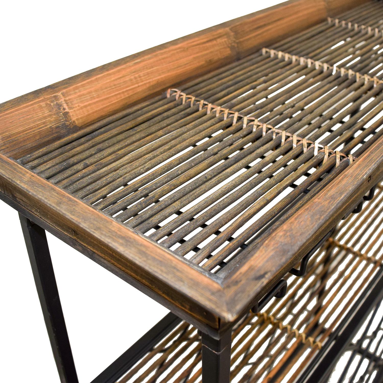 Vintage Wood and Metal Bar Rack Black / Bronze