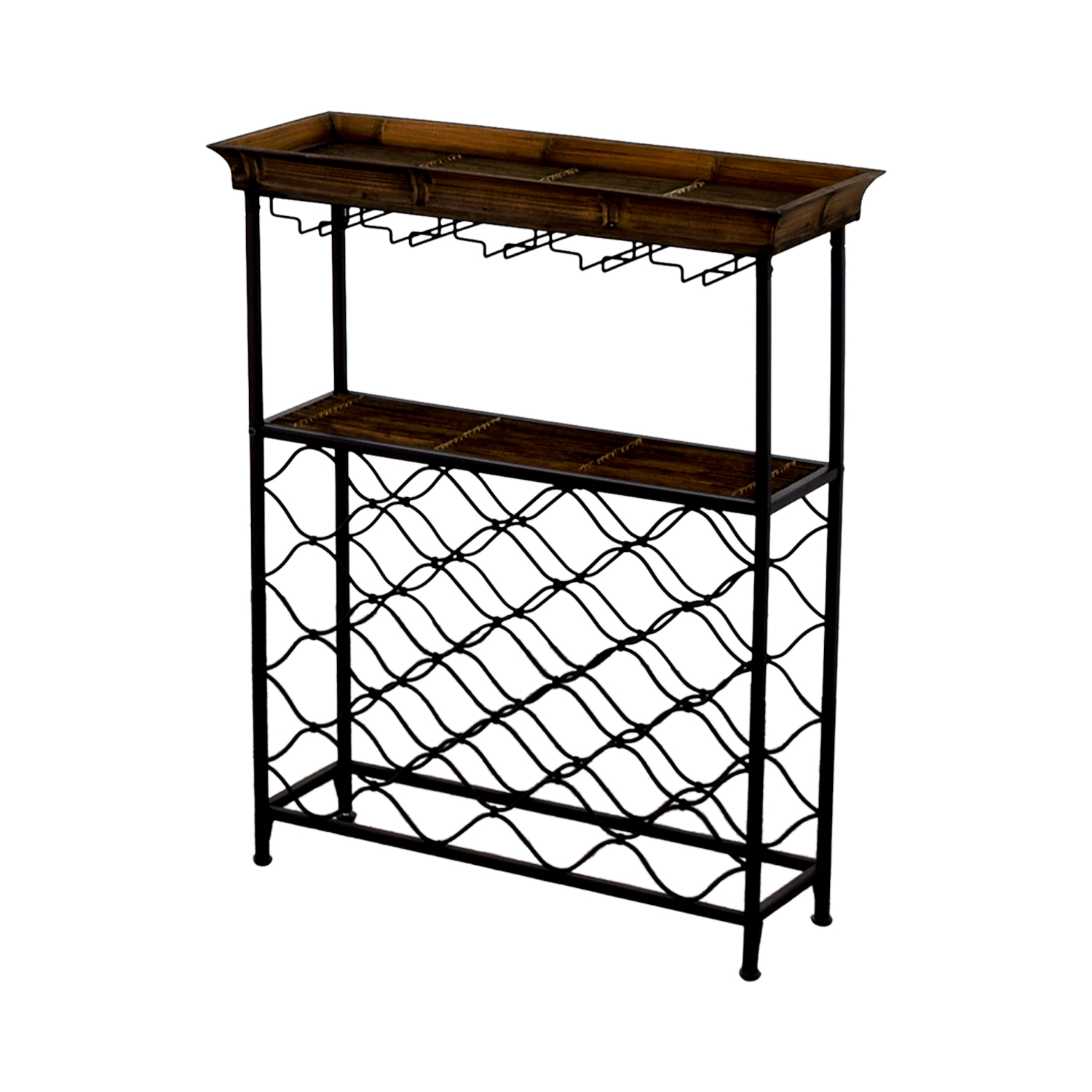 shop Vintage Wood and Metal Bar Rack
