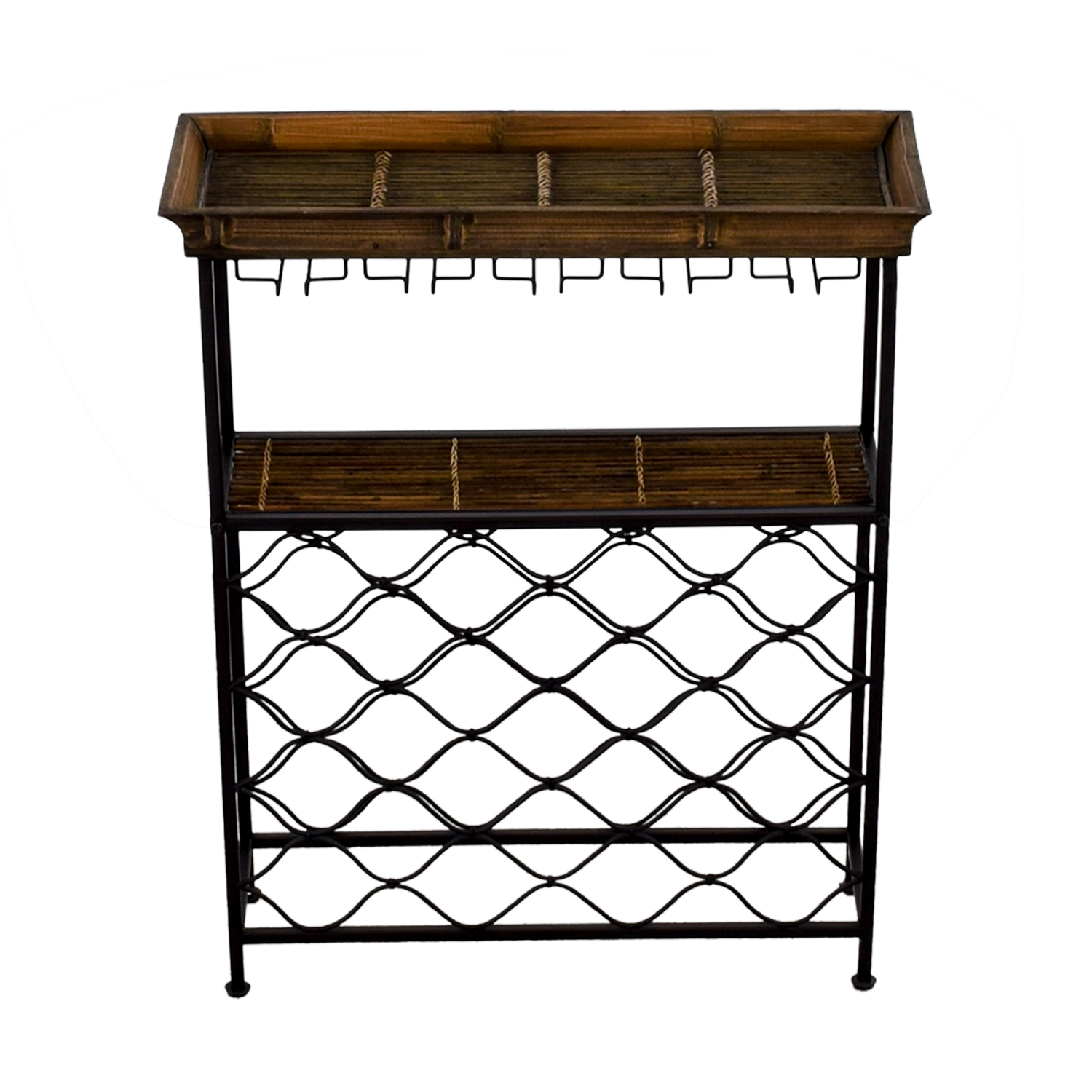 buy Vintage Wood and Metal Bar Rack online