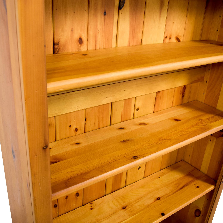 shop Crate & Barrel Walnut Bookcase Crate and Barrel