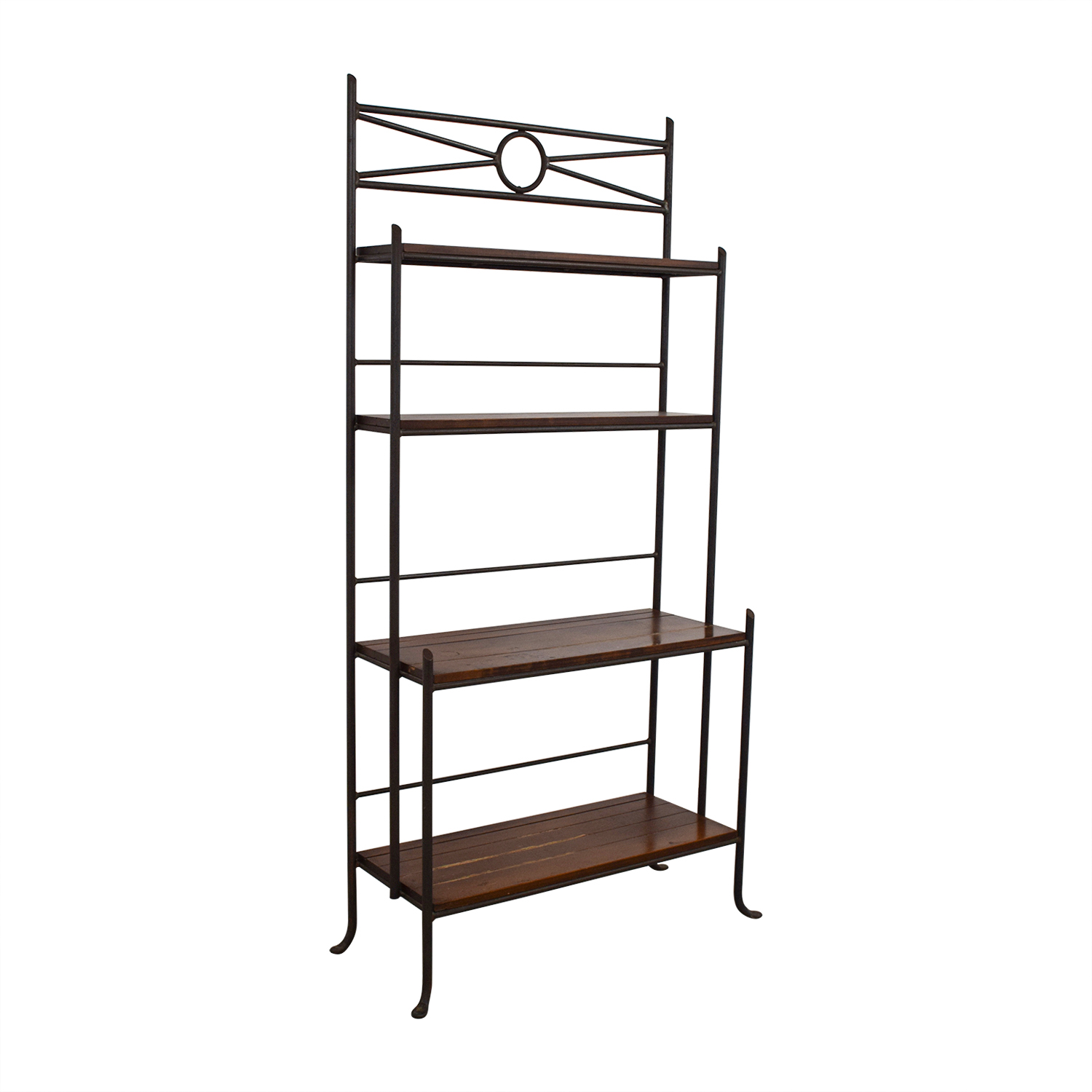 Crate & Barrel Crate & Barrel Wood and Metal Book Case Storage