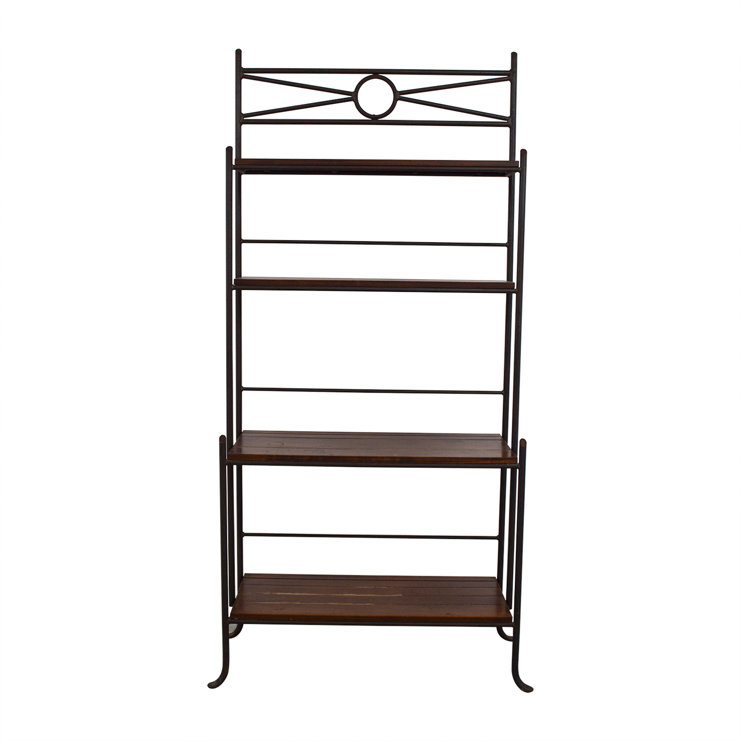 shop Crate & Barrel Wood and Metal Book Case Crate & Barrel Bookcases & Shelving