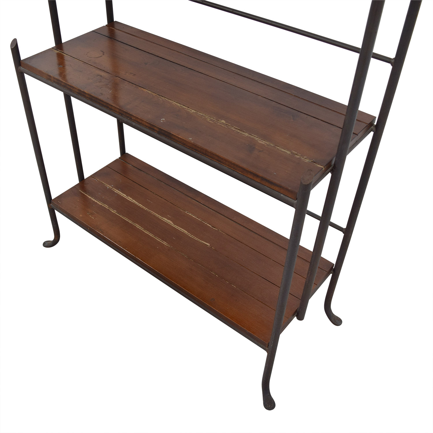 Crate & Barrel Wood and Metal Book Case / Bookcases & Shelving