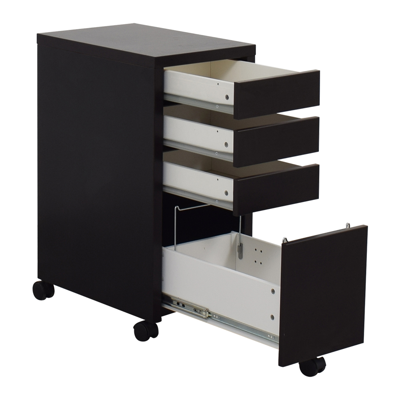 Staples Black File Cabinet / Filing & Bins