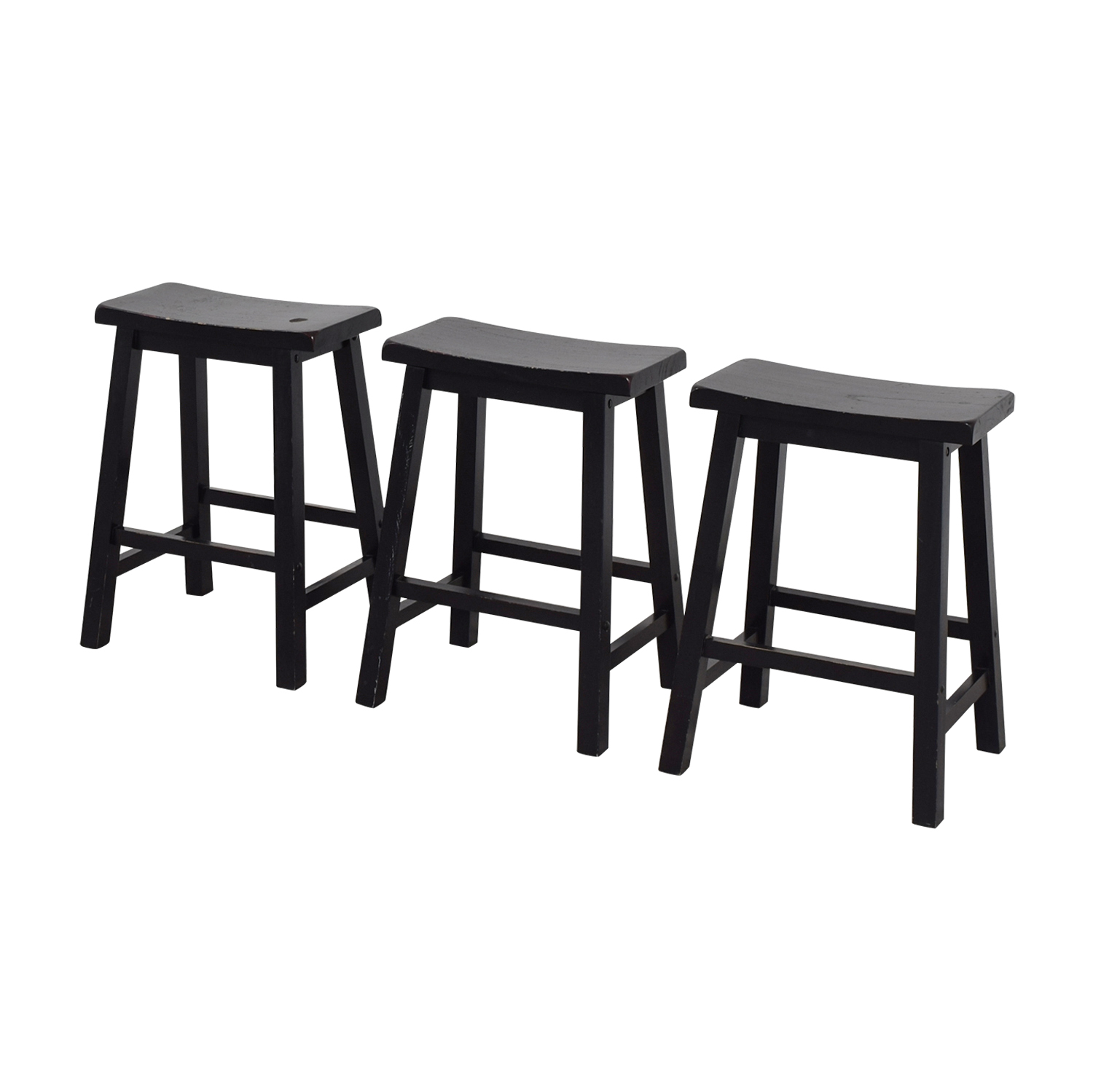 buy West Elm Black Solid Wood Stools West Elm