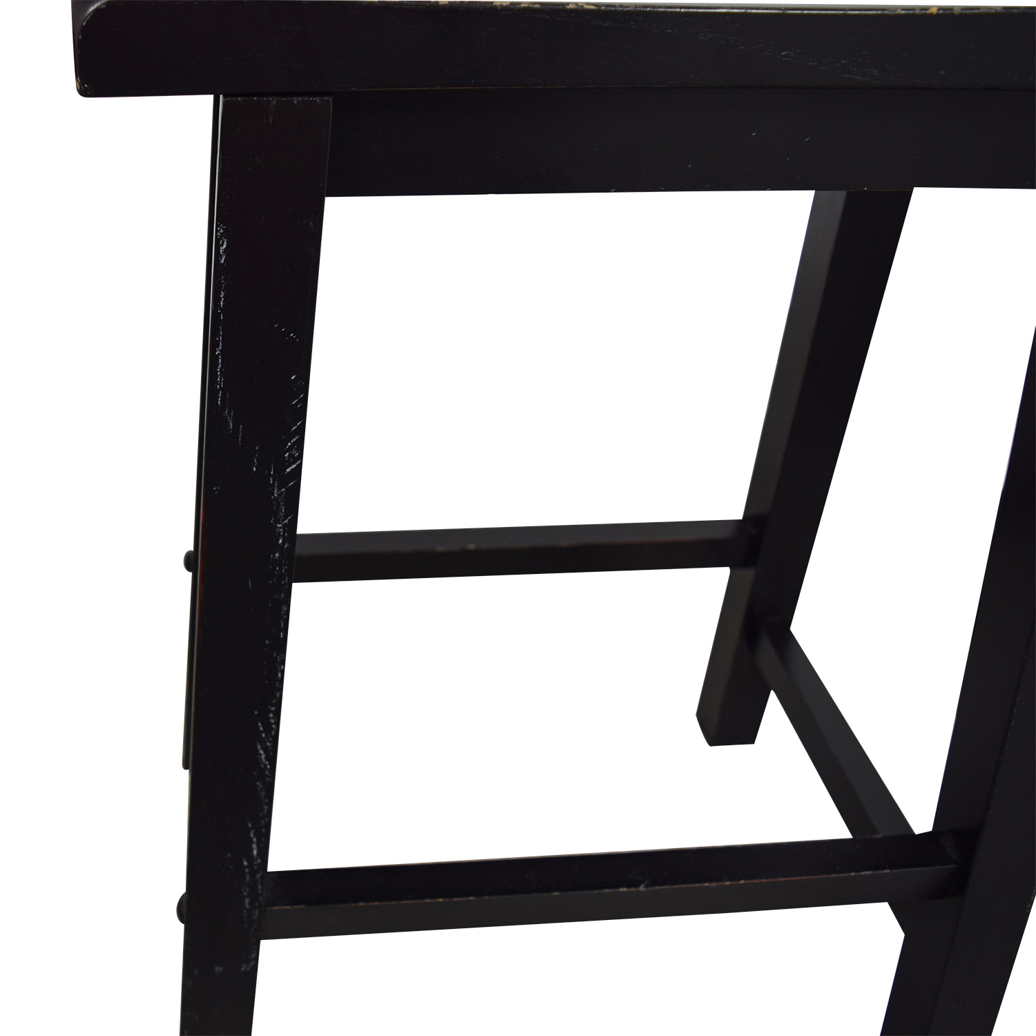 shop West Elm Black Solid Wood Stools West Elm Chairs