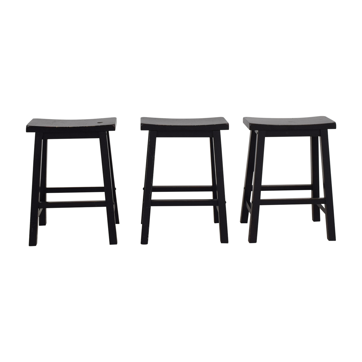 West Elm West Elm Black Solid Wood Stools coupon