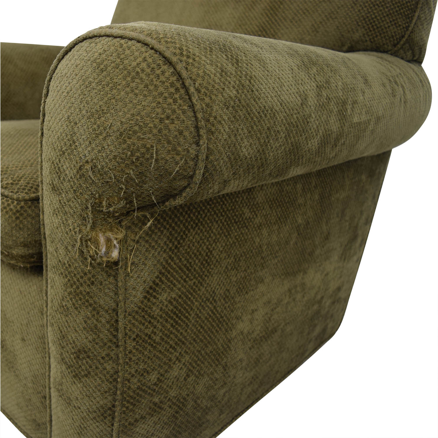 Large Olive Green Accent Chair nj