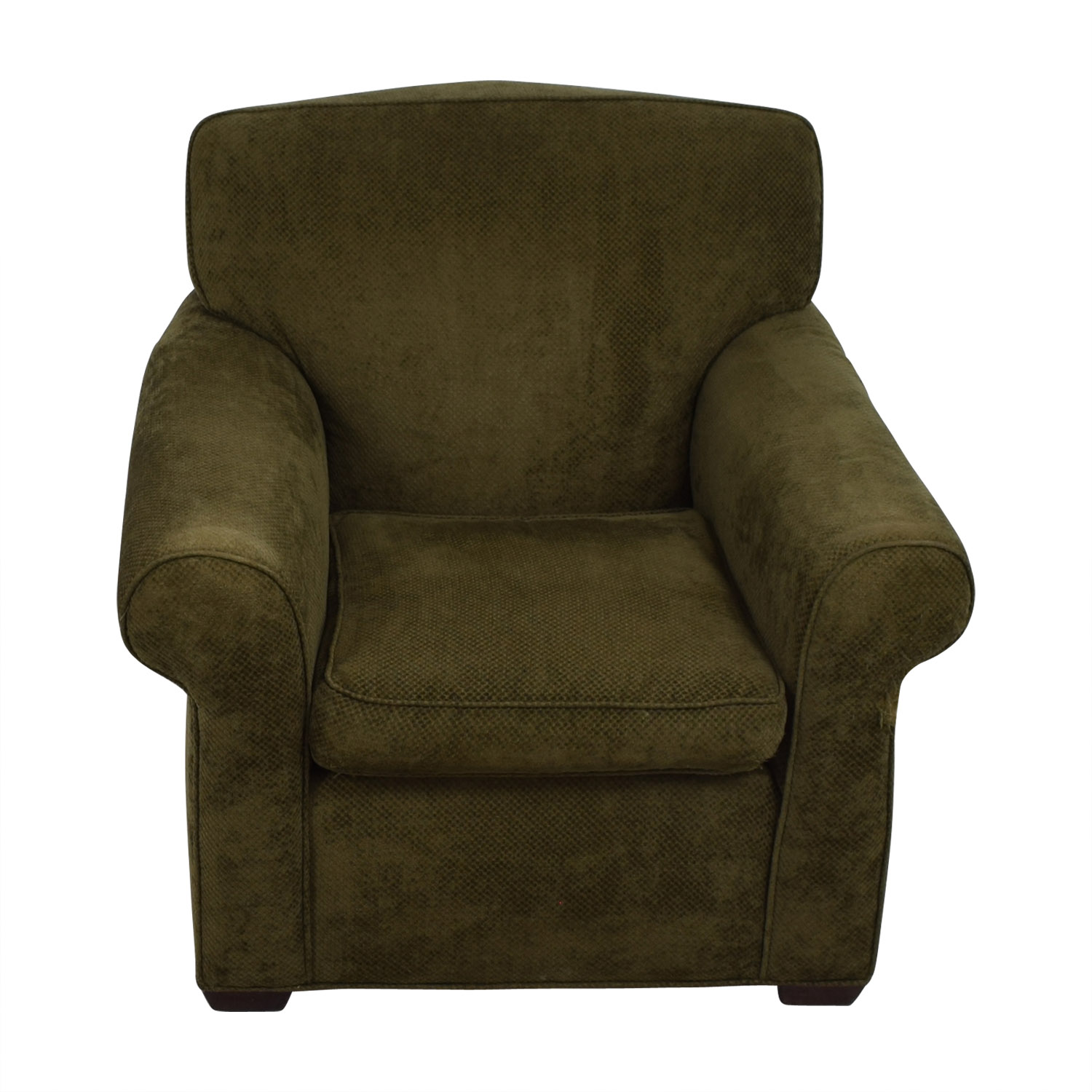 Large Olive Green Accent Chair