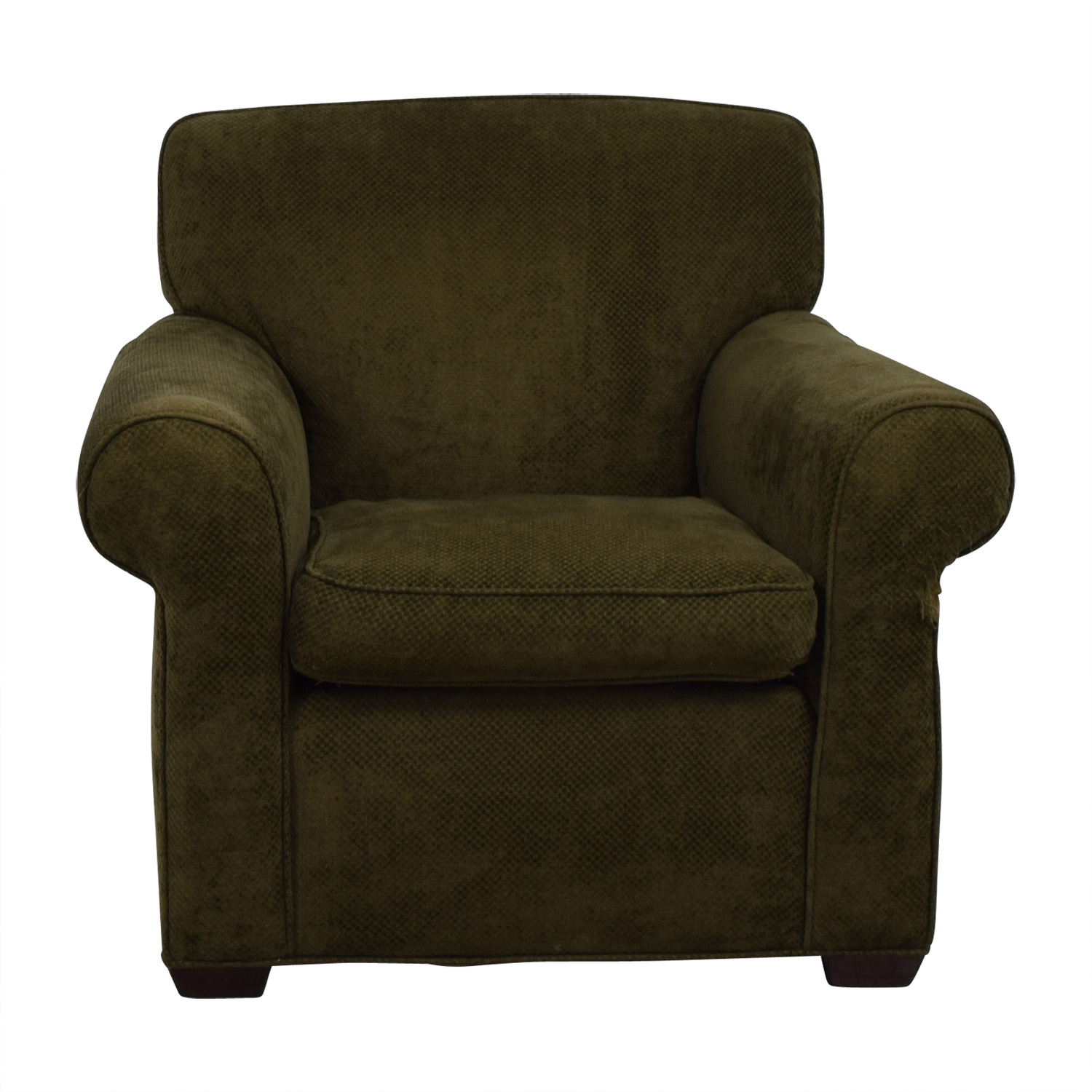 Large Olive Green Accent Chair / Chairs