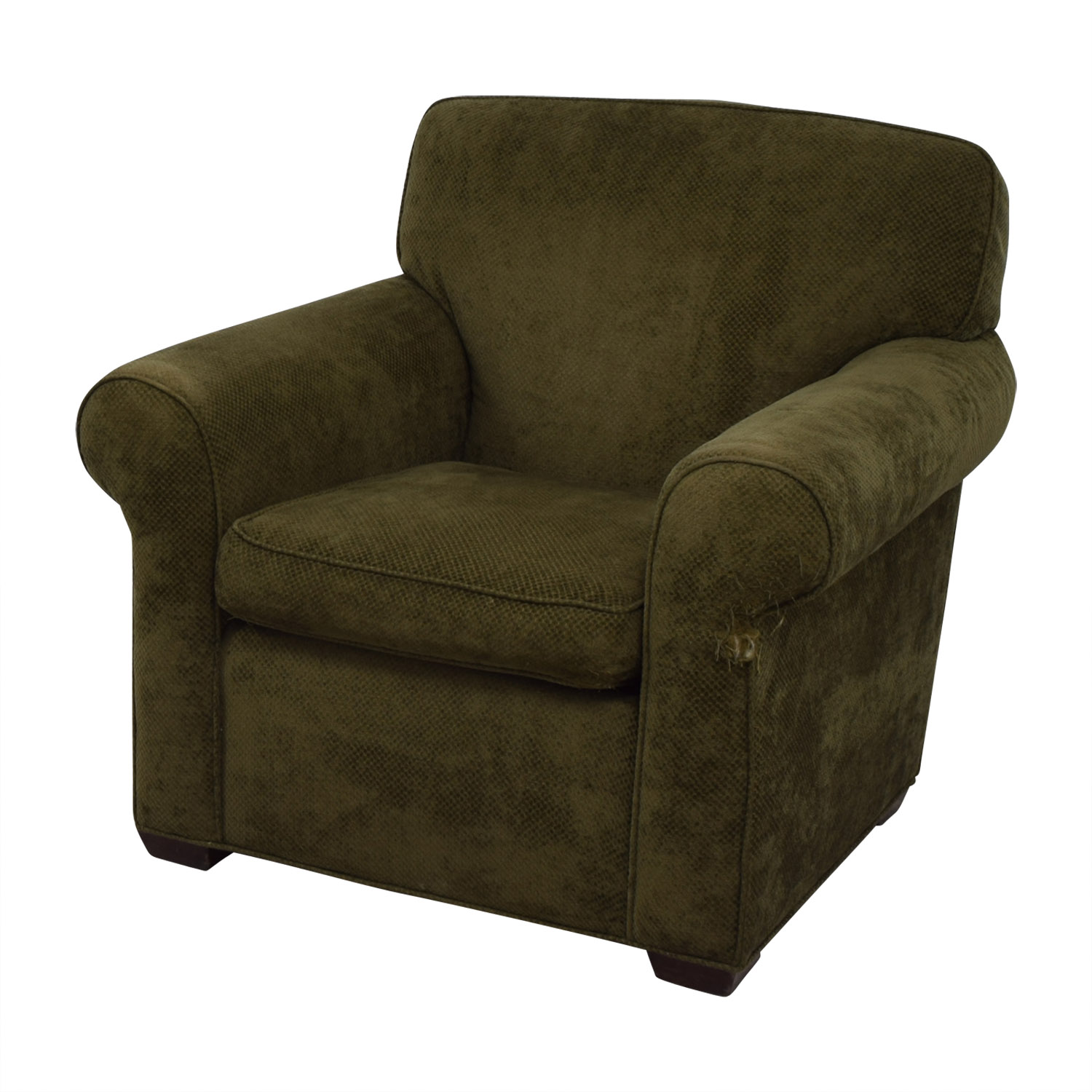 shop Large Olive Green Accent Chair Chairs