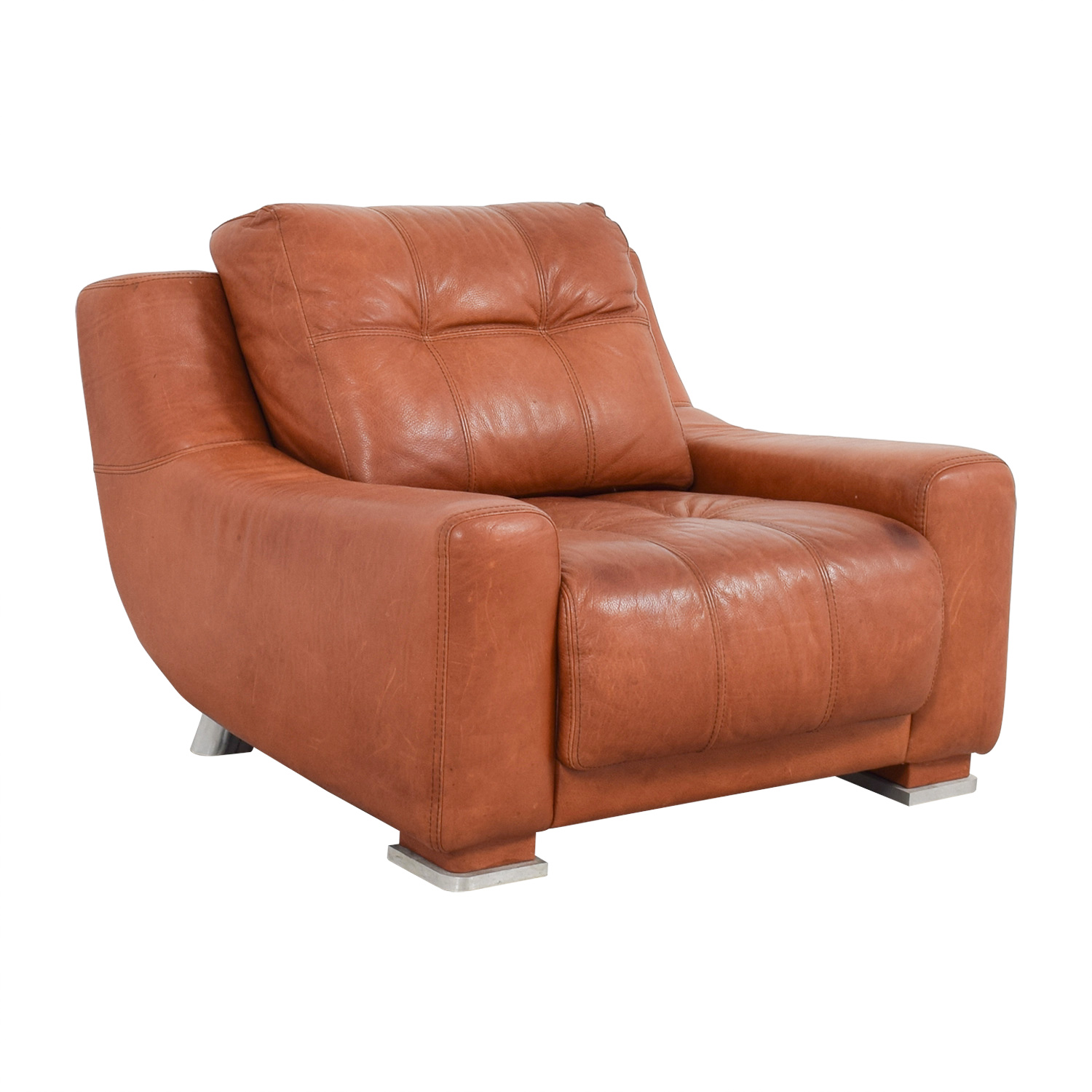 59 Off Contempo Contempo Leather Accent Chair Chairs