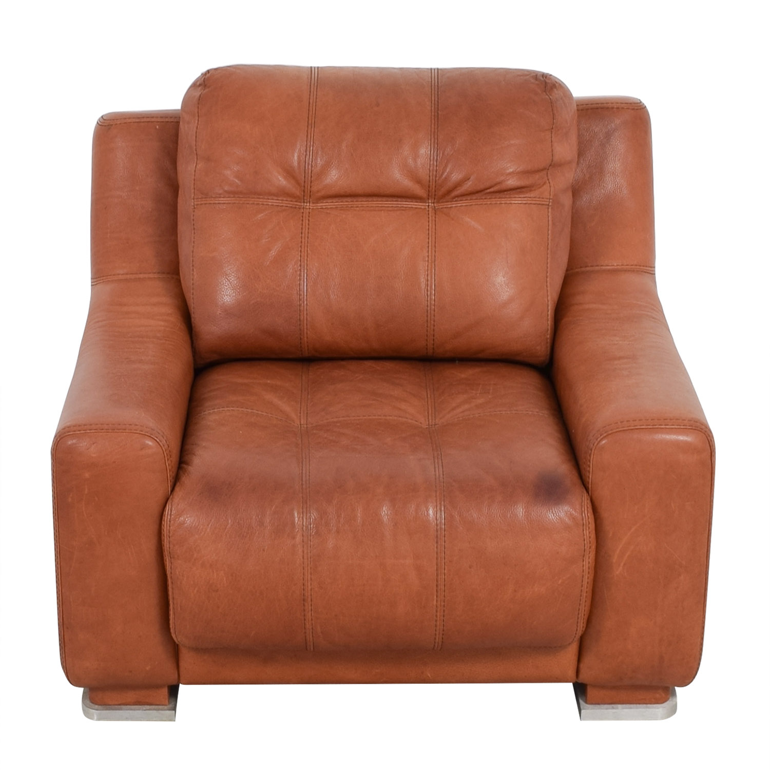 shop Contempo Leather Accent Chair Contempo Accent Chairs