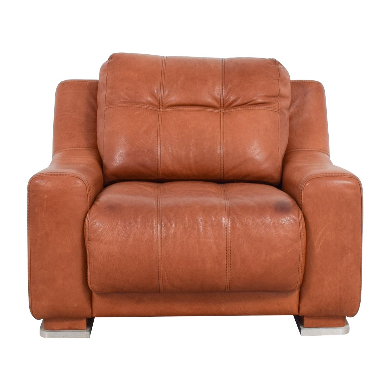 Contempo Contempo Leather Accent Chair Chairs