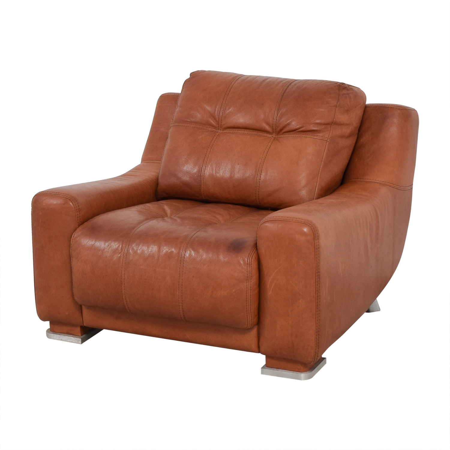 Contempo Contempo Leather Accent Chair Chairs