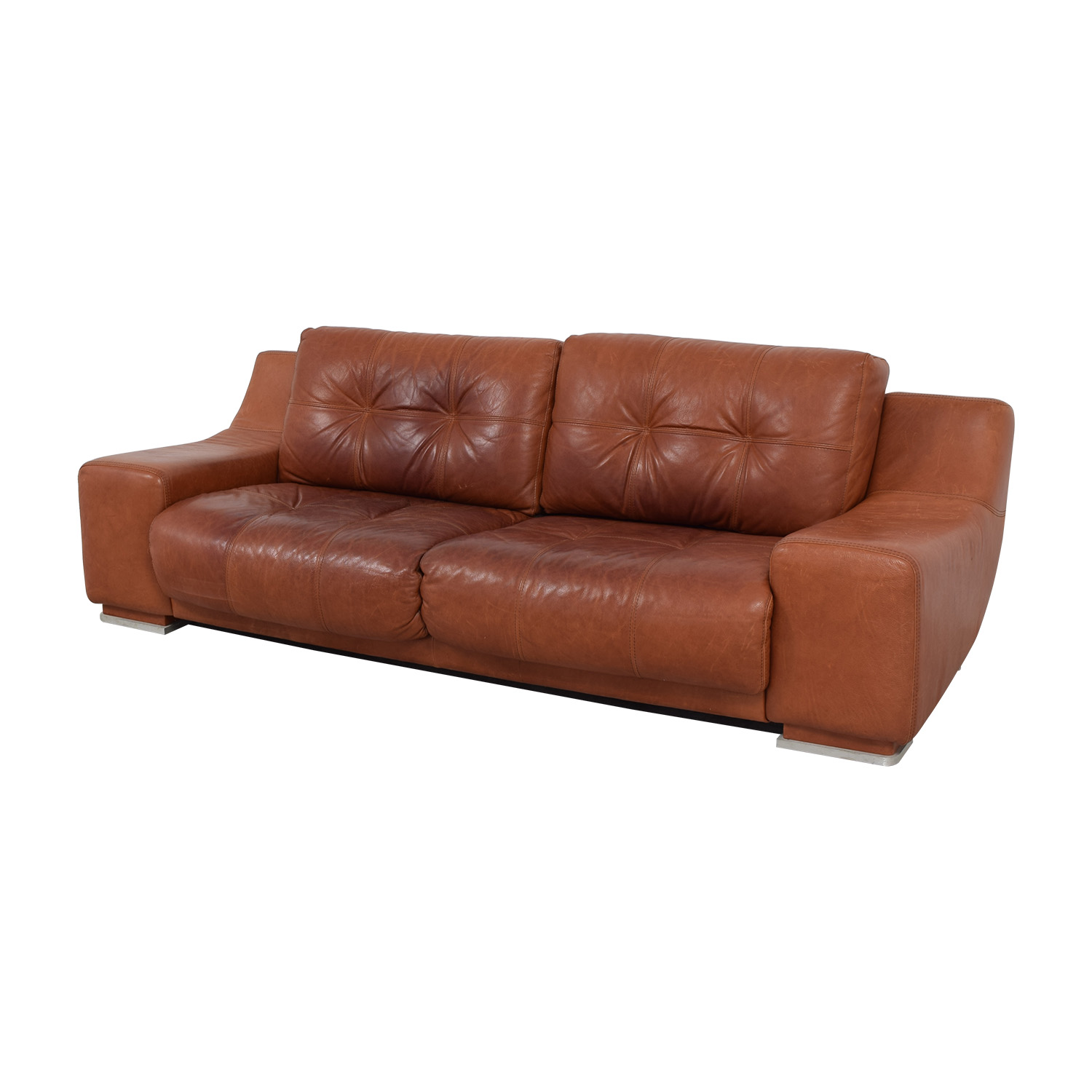 54 Off Contempo Contempo Leather Sofa Sofas