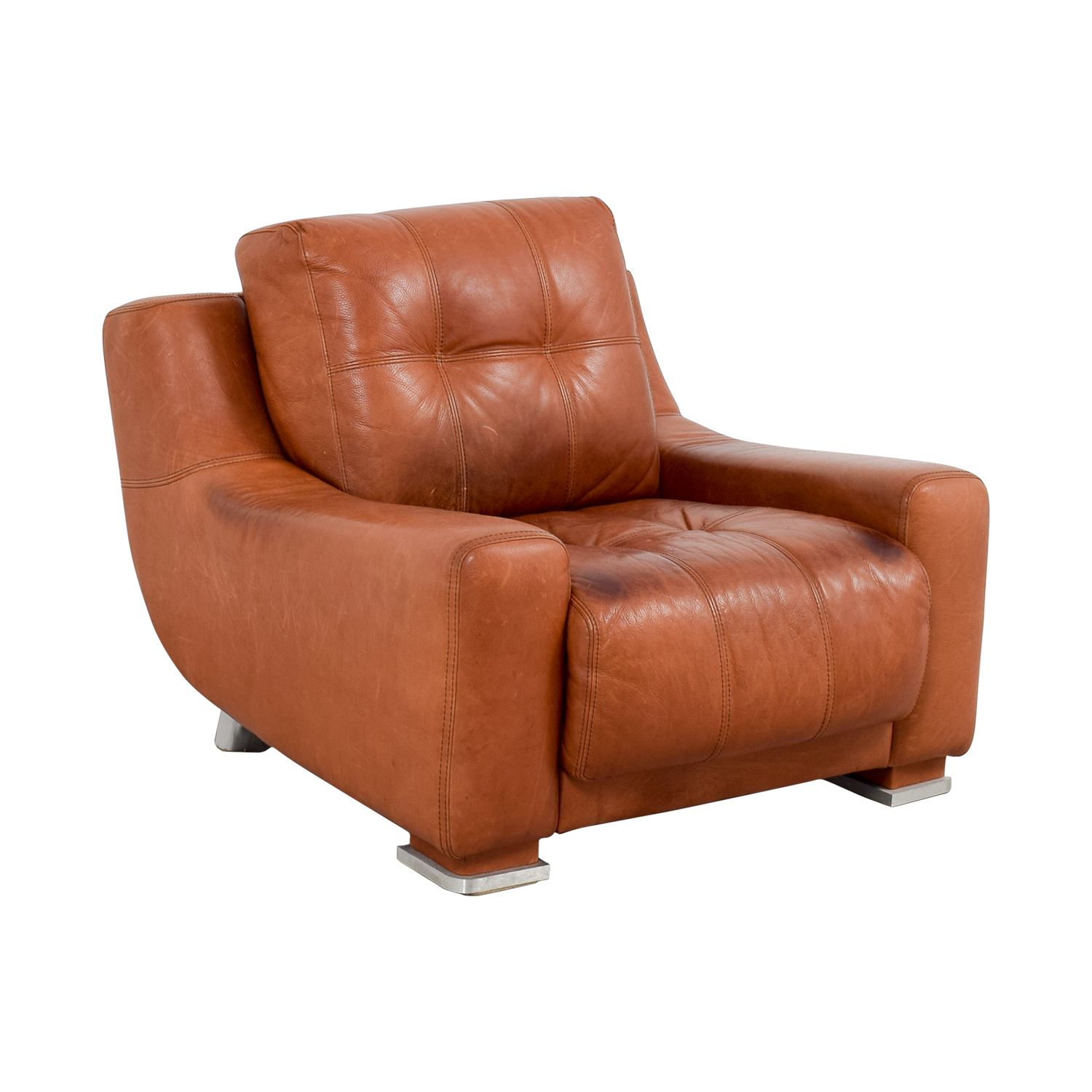 ... Contempo Contempo Leather Accent Chair Nj ...